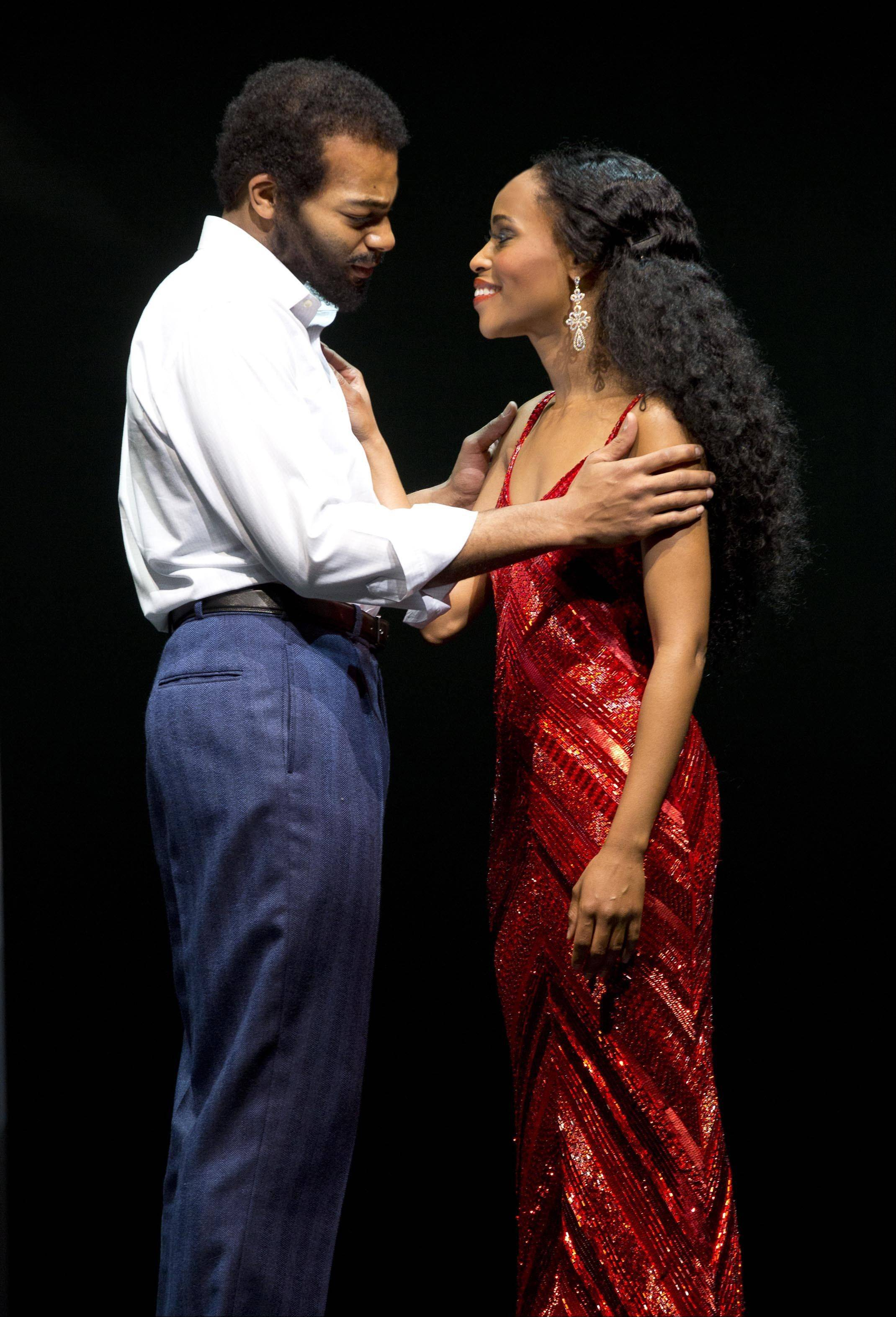 "Brandon Victor Dixon plays Berry Gordy and Valisia LeKae stars as Diana Ross in ""Motown: The Musical."" LeKae has had to take a break from the show after being diagnosed with ovarian cancer in late 2013."