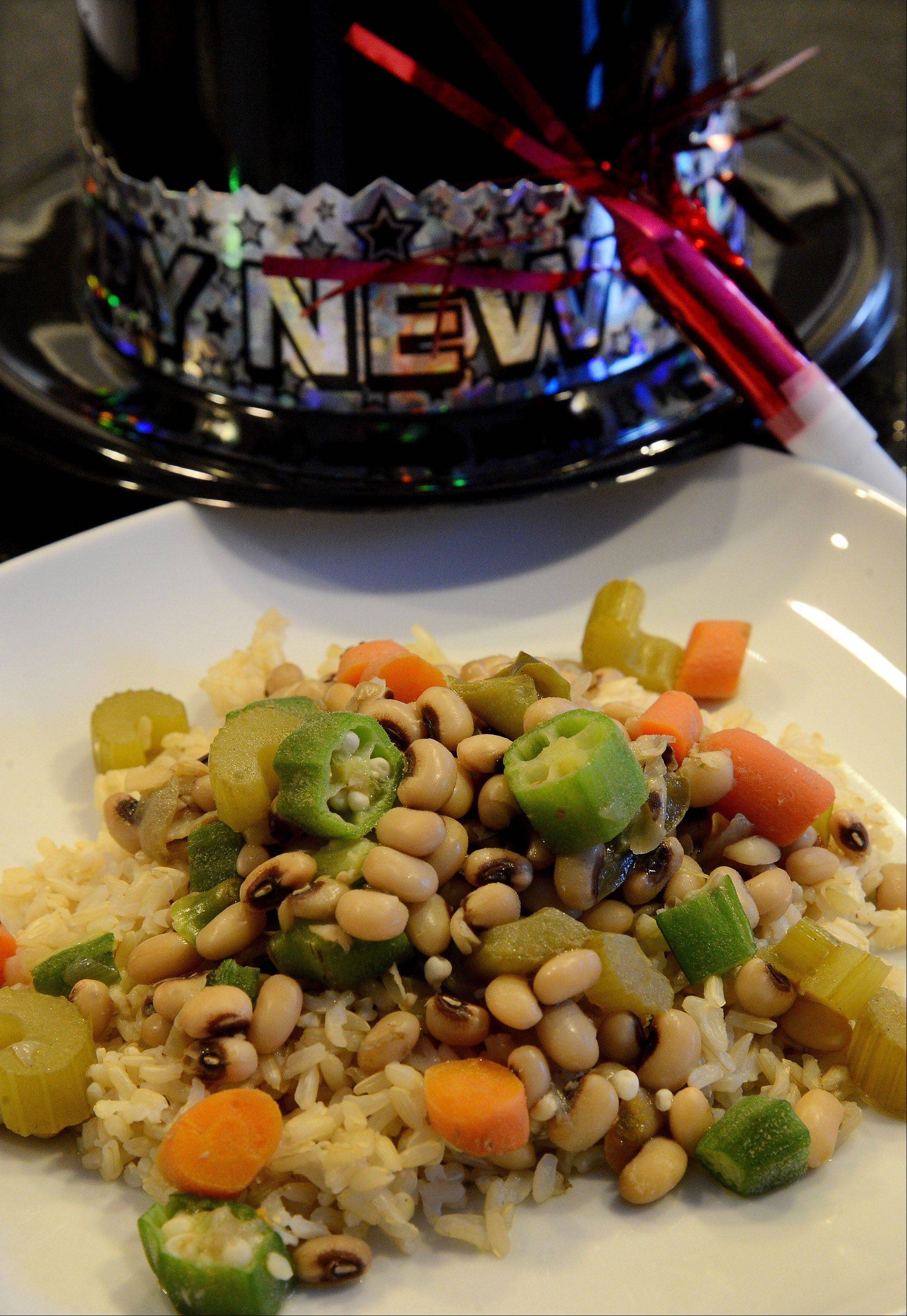 Full of brown rice, okra and black eyed peas, Hoppin' John is a healthy meal choice all year long.