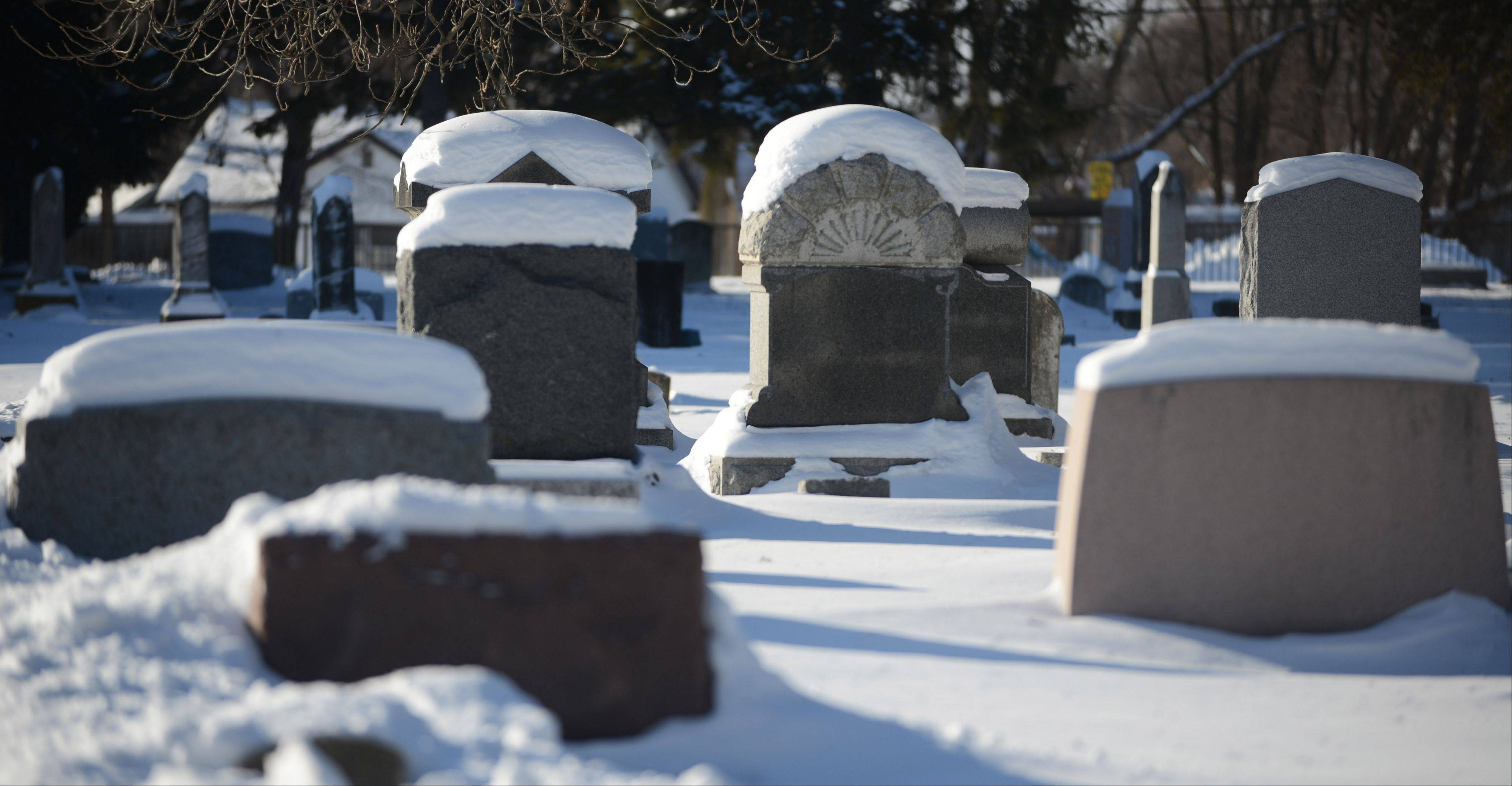 Brutally cold weather can complicate things, even for the dead