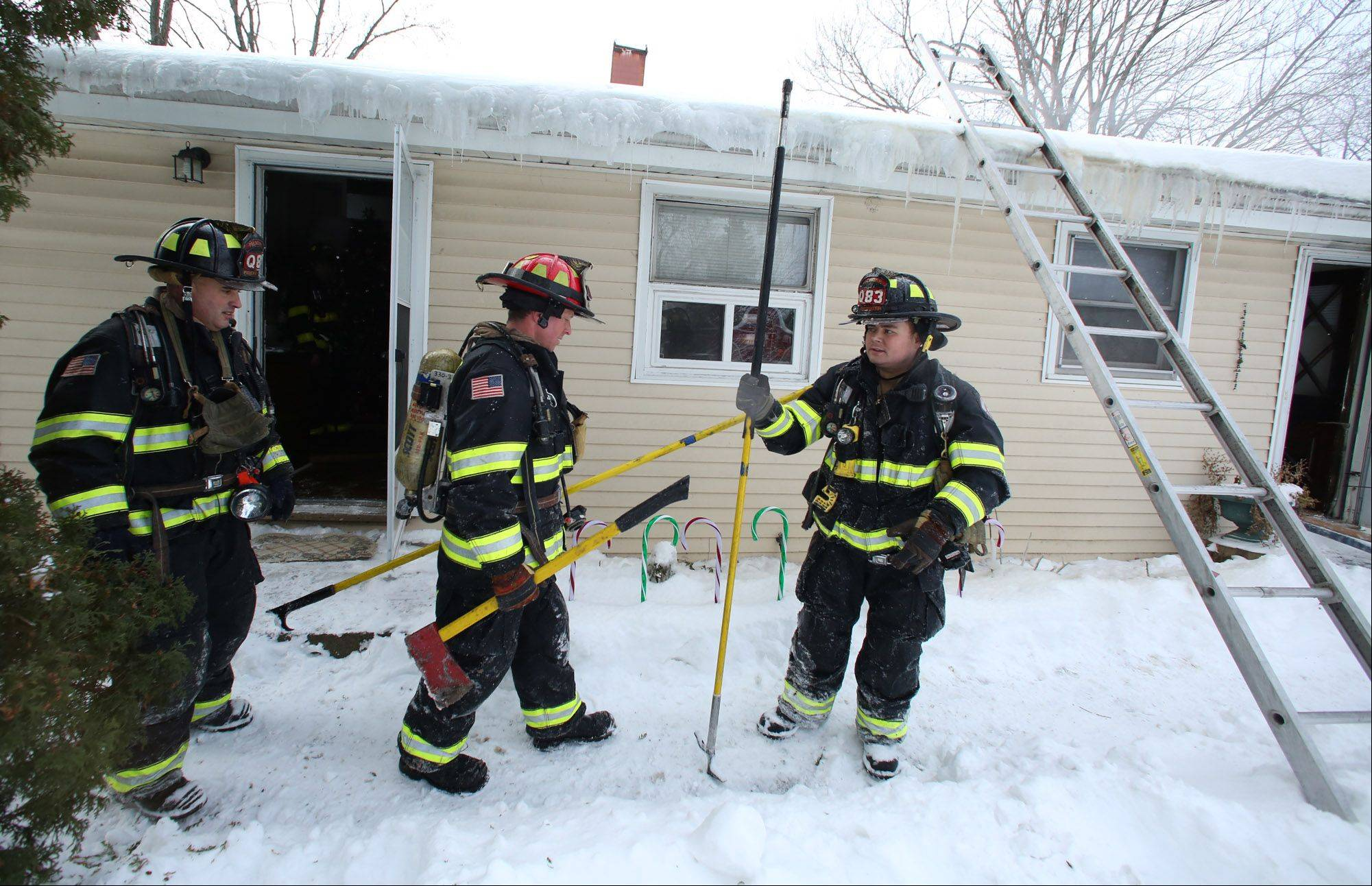Firefighters responded to a house fire Tuesday afternoon on the 1600 block of Yale Avenue in Arlington Heights.