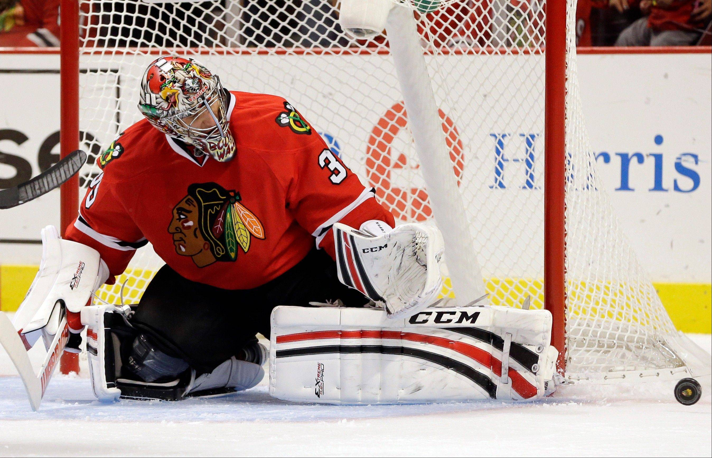 Blackhawks goalie Nikolai Khabibulin will miss four to five months after having shoulder surgery on Tuesday.