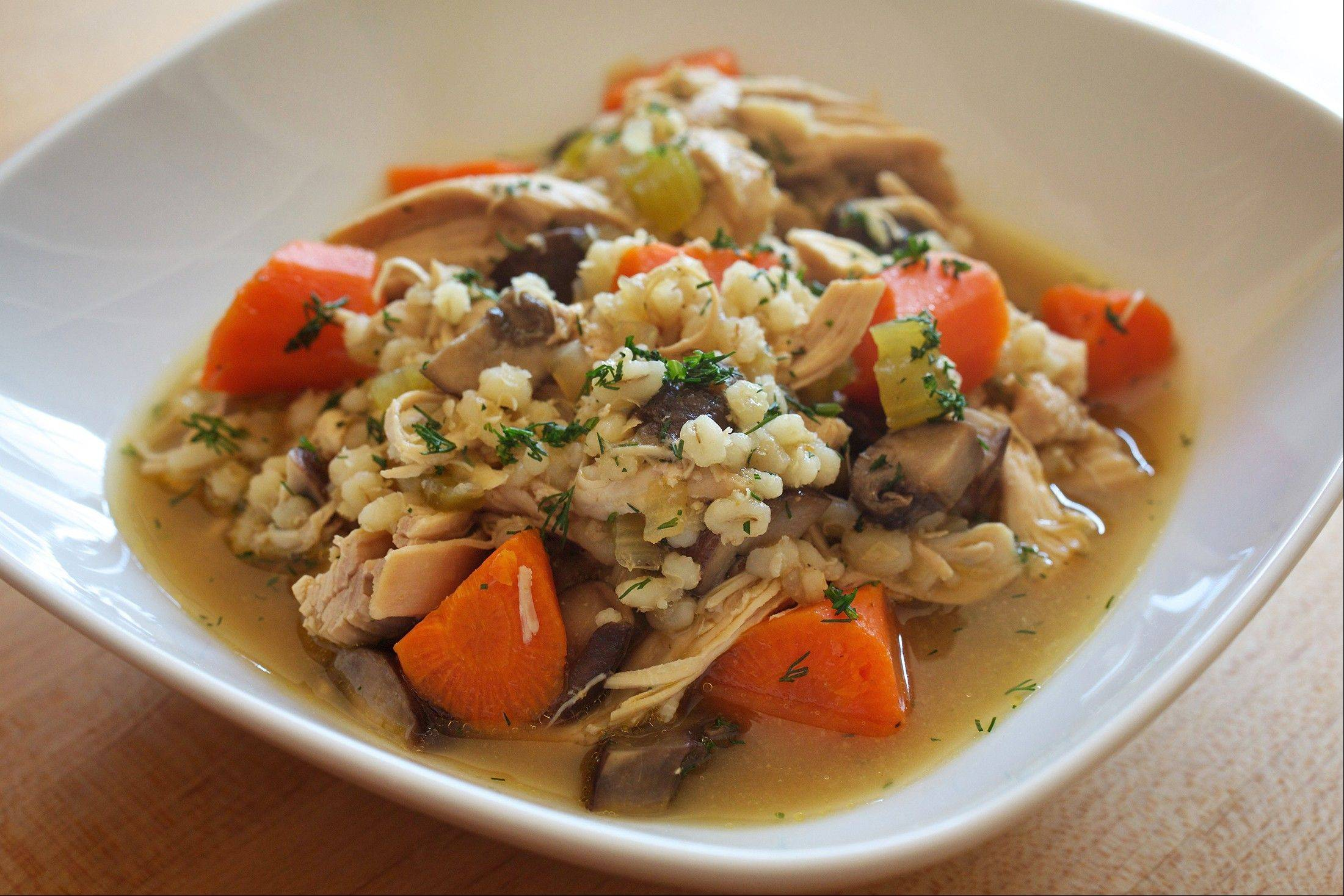 Herbs enrich not-from-scratch chicken soup