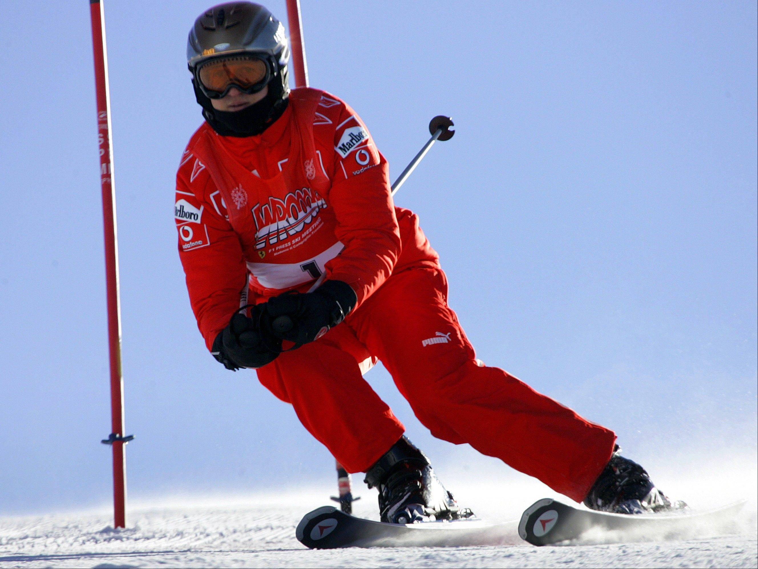 Two minutes of footage from a camera on Michael Schumacher's ski helmet showed the Formula One great was clearly skiing off a groomed trail when he lost his balance and crashed, leaving him with critical head injuries, investigators said Wednesday Jan. 8, 2014.