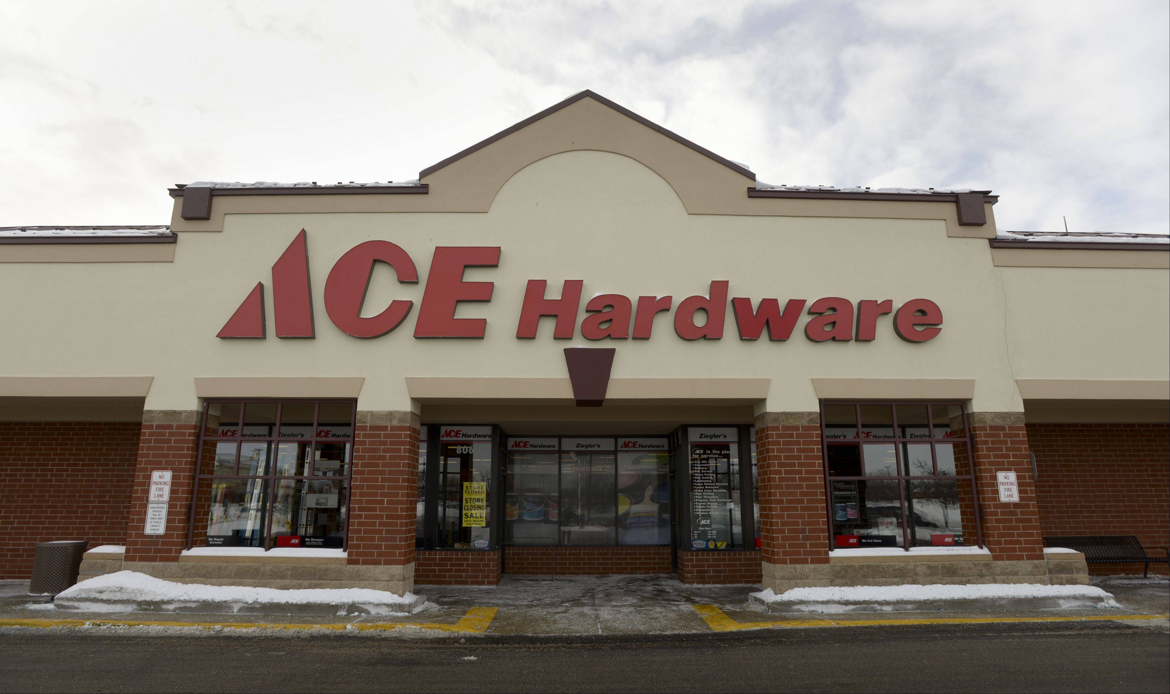 Ziegler's Ace Hardware in Carol Stream is closing after 25 years in the same location. Owner Dave Ziegler said he and his landlord couldn't agree on a lease extension.