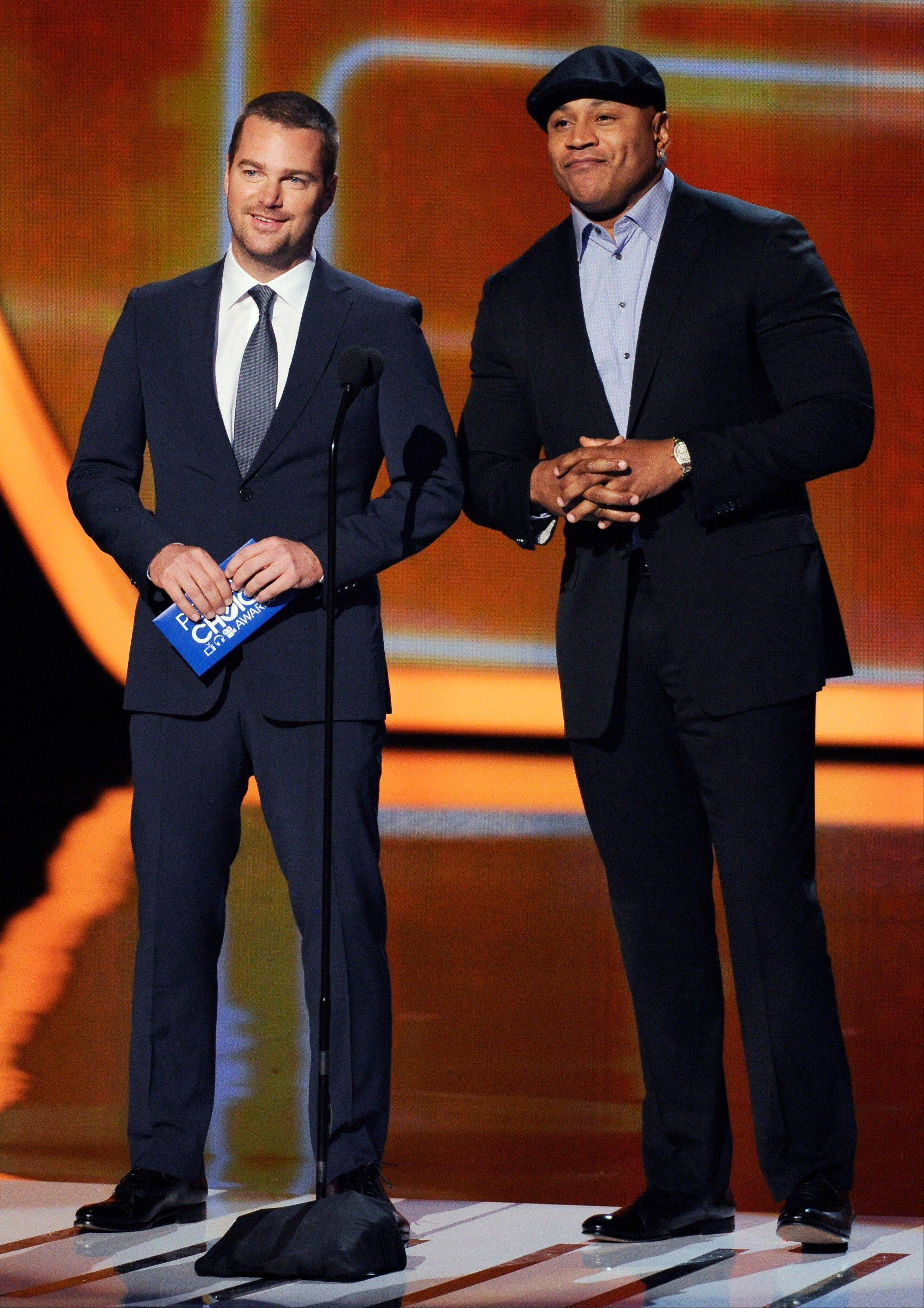 Associated PressChris O'Donnell, left, and LL Cool J present the award for favorite comedic TV actress at the 40th annual People's Choice Awards Wednesday in Los Angeles.