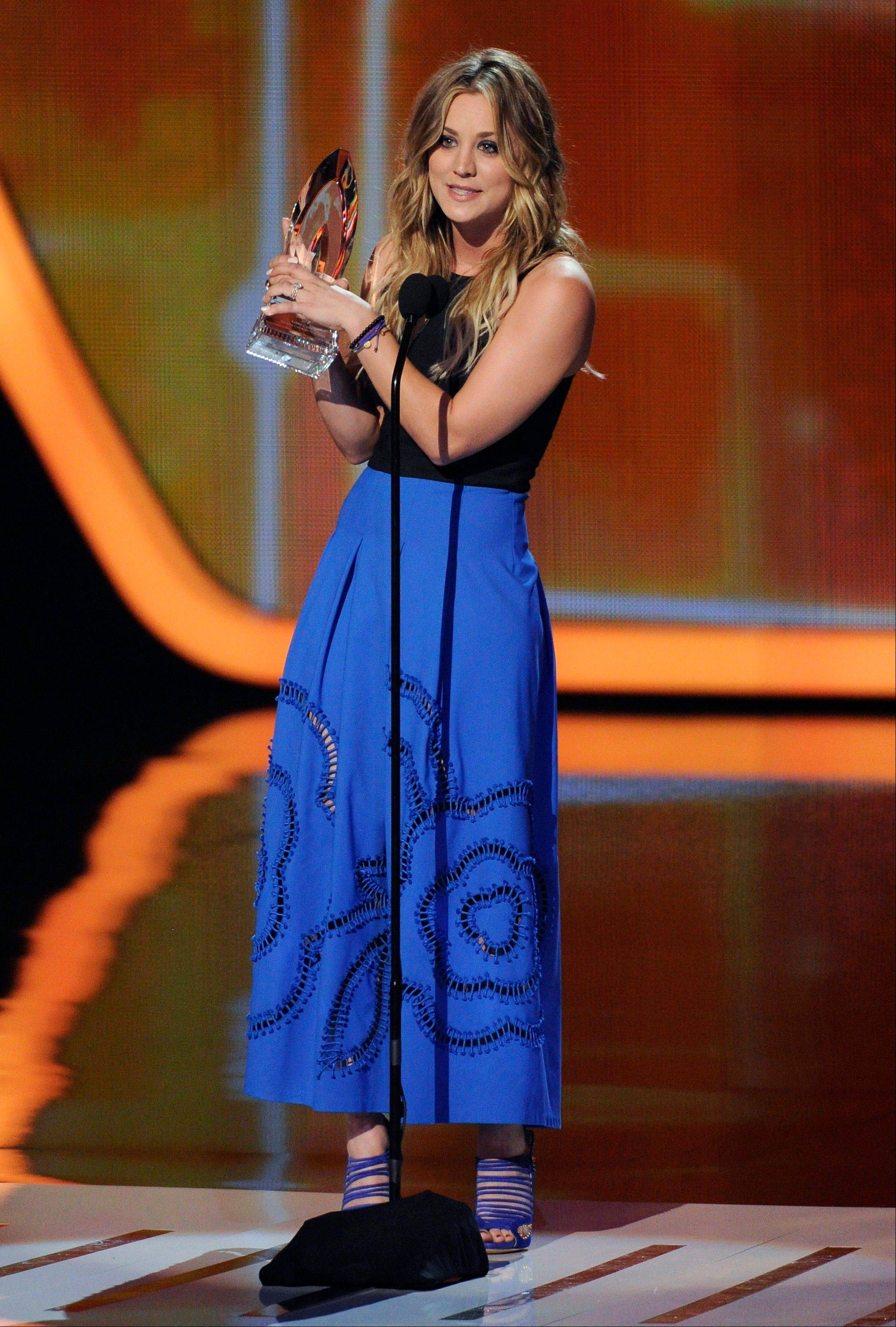 Associated PressKaley Cuoco accepts the award for favorite comedic TV actress at the 40th annual People's Choice Awards at the Nokia Theatre L.A. Live on Wednesday, Jan. 8, 2014, in Los Angeles.