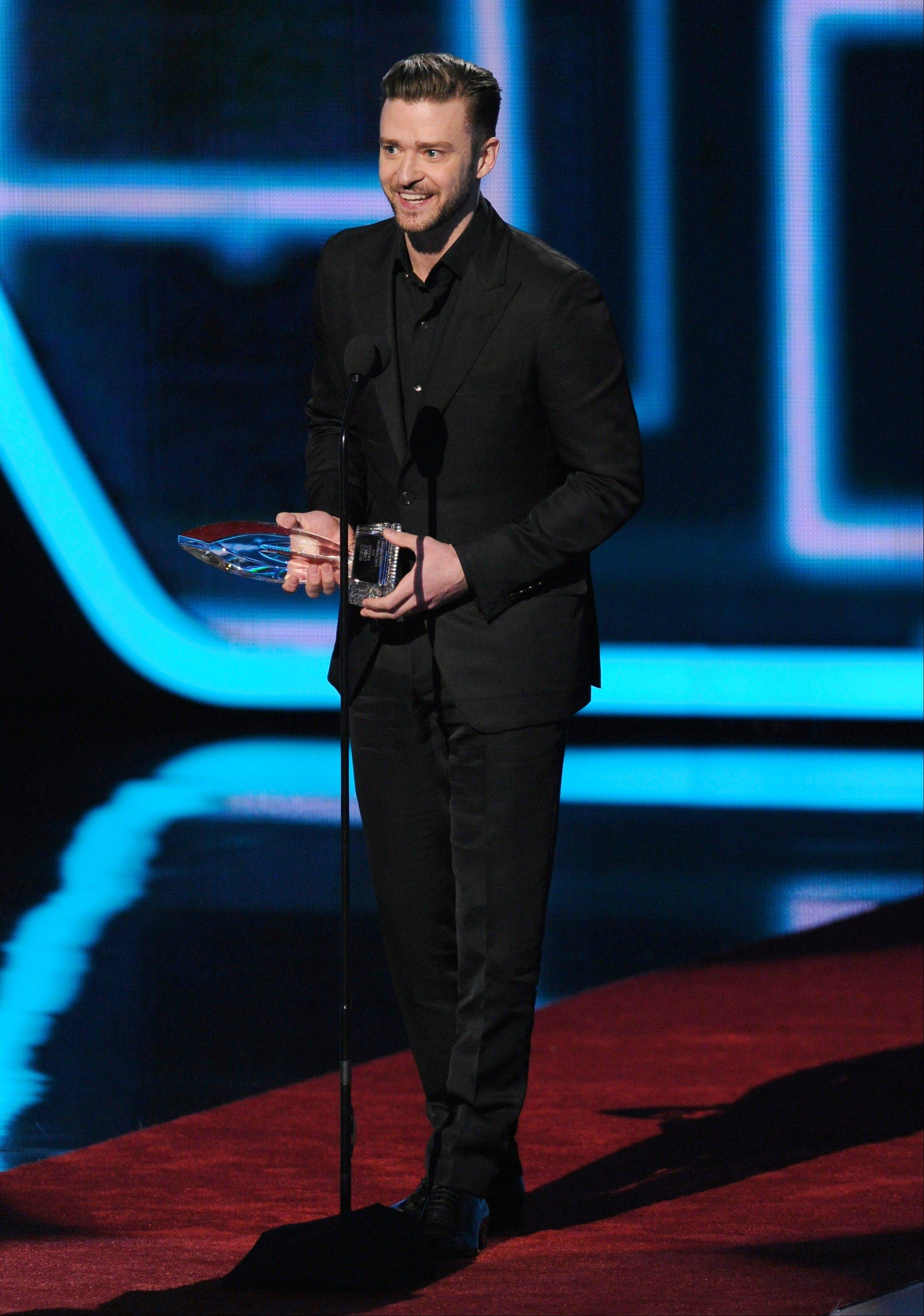 "Associated PressJustin Timberlake accepts the award for favorite album for ""The 20/20 Experience"" at the 40th annual People's Choice Awards at the Nokia Theatre L.A. Live on Wednesday, Jan. 8, 2014, in Los Angeles."