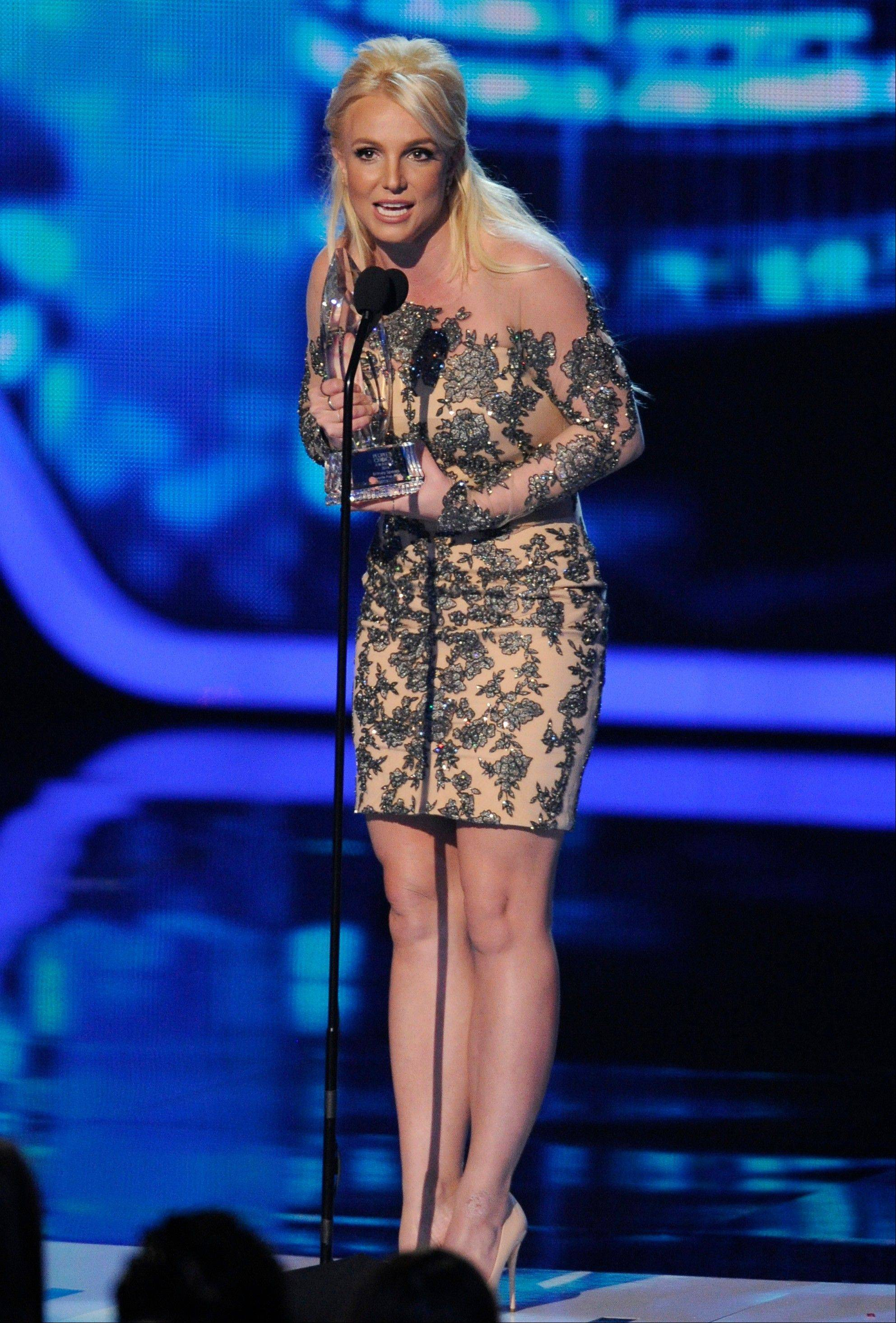 Associated PressBritney Spears accepts the award for favorite pop artist at the 40th annual People's Choice Awards at the Nokia Theatre L.A. Live on Wednesday, Jan. 8, 2014, in Los Angeles.