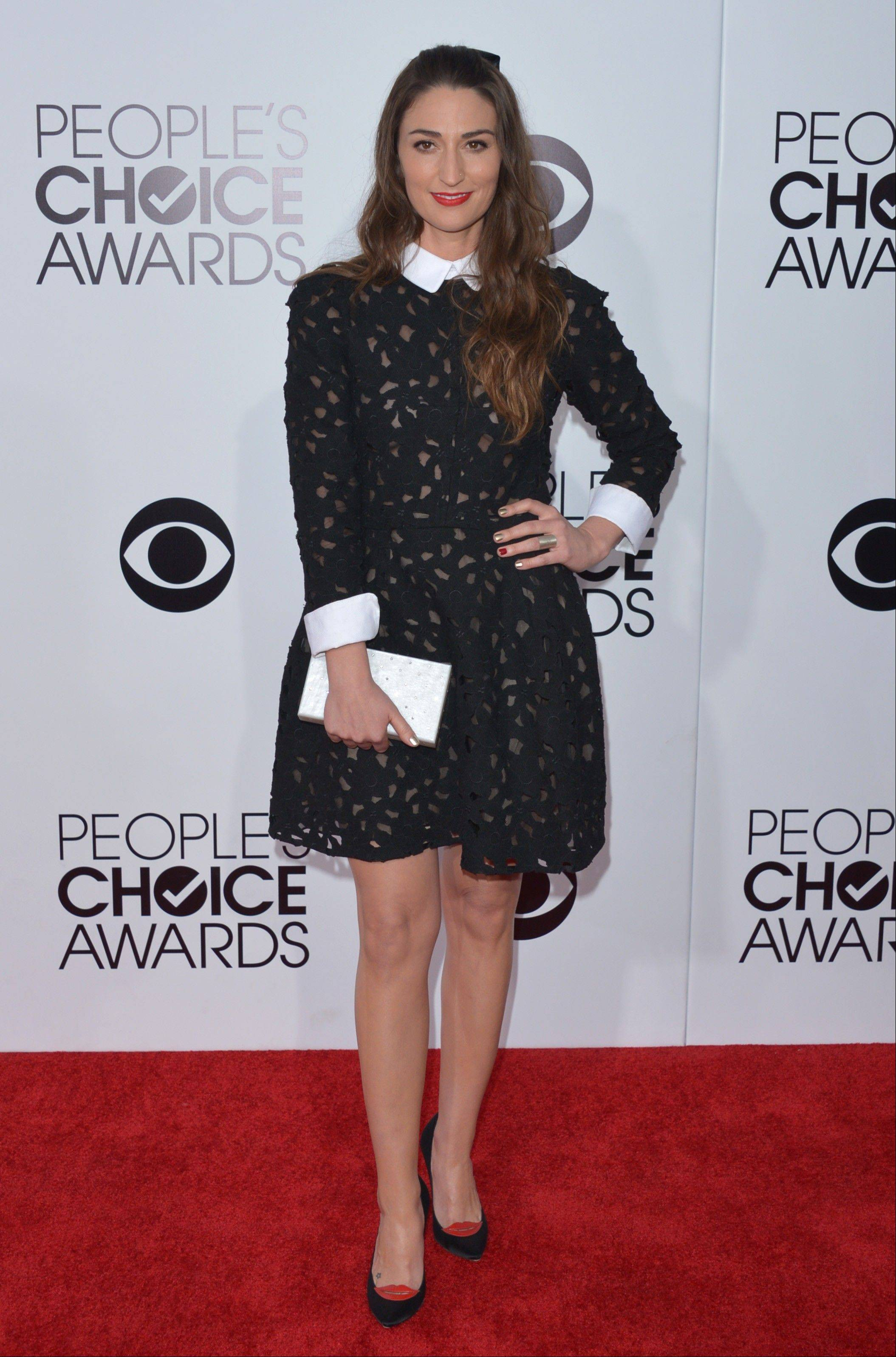 Associated PressSara Bareilles arrives at the 40th annual People's Choice Awards at Nokia Theatre L.A. Live on Wednesday, Jan. 8, 2014, in Los Angeles.