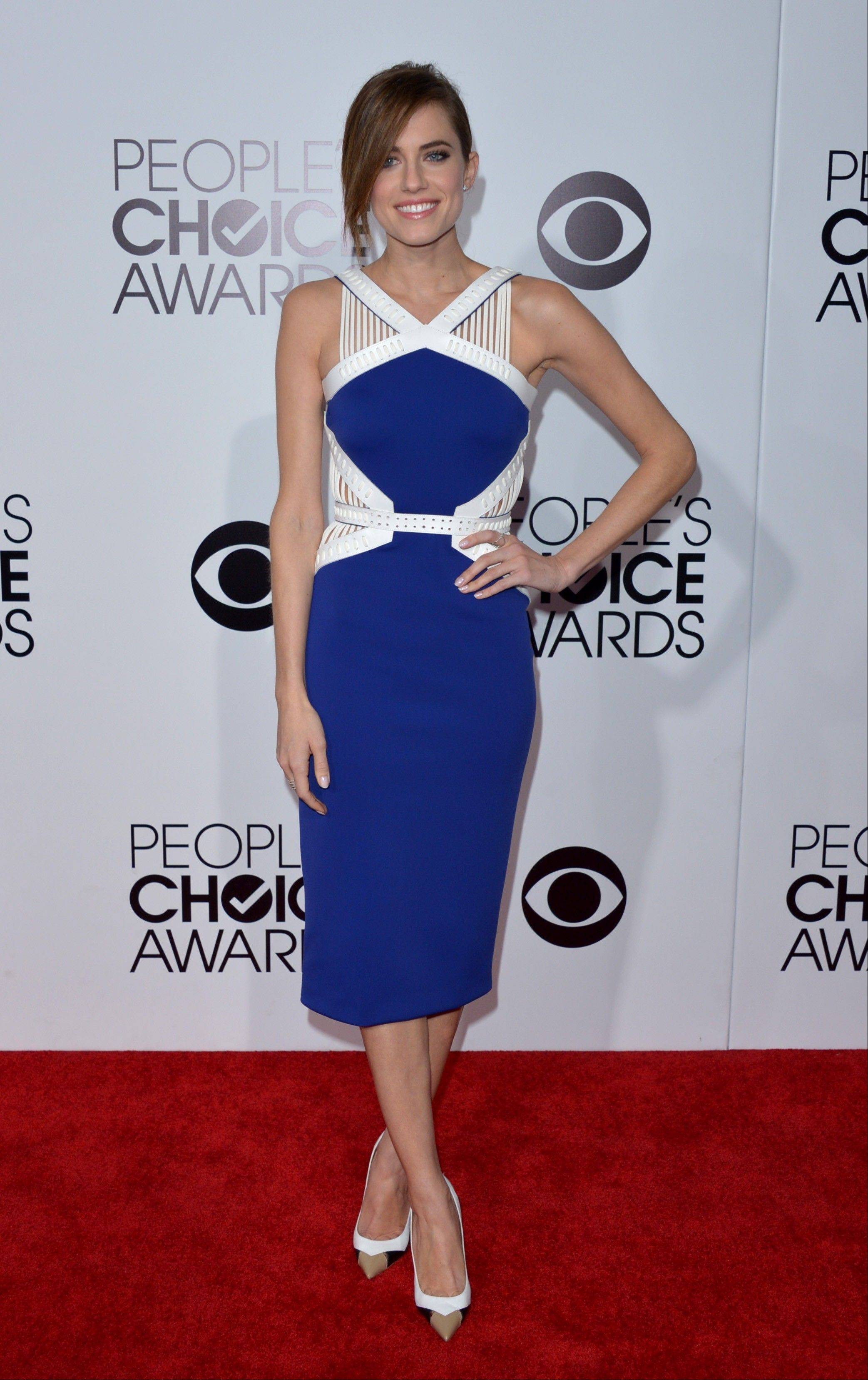 Associated PressAllison Williams arrives at the 40th annual People's Choice Awards Wednesday in Los Angeles.