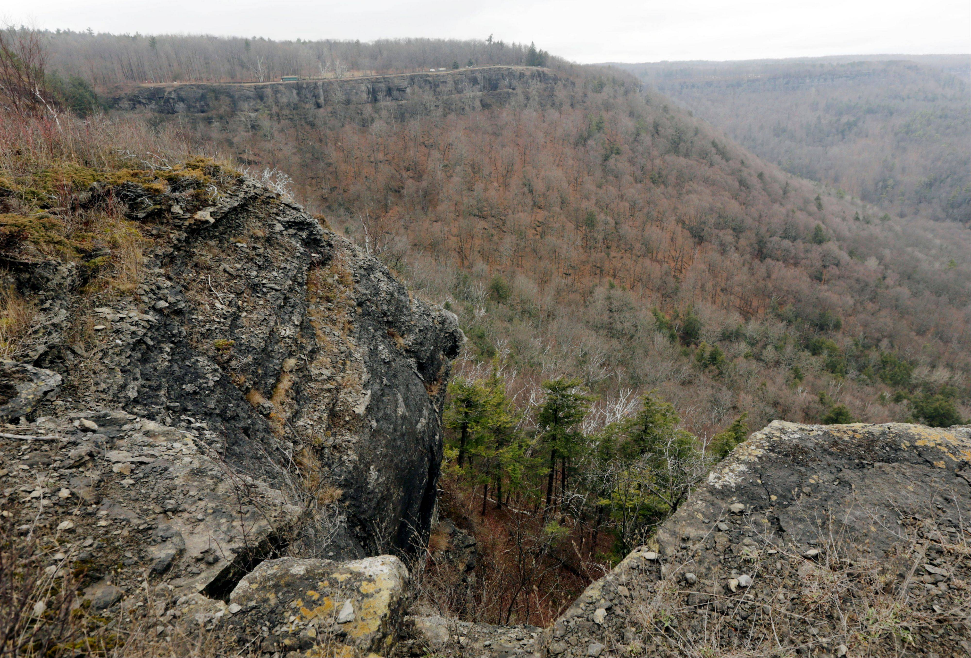 The Glen Doone picnic area at John Boyd Thacher State Park offers spectacular views.
