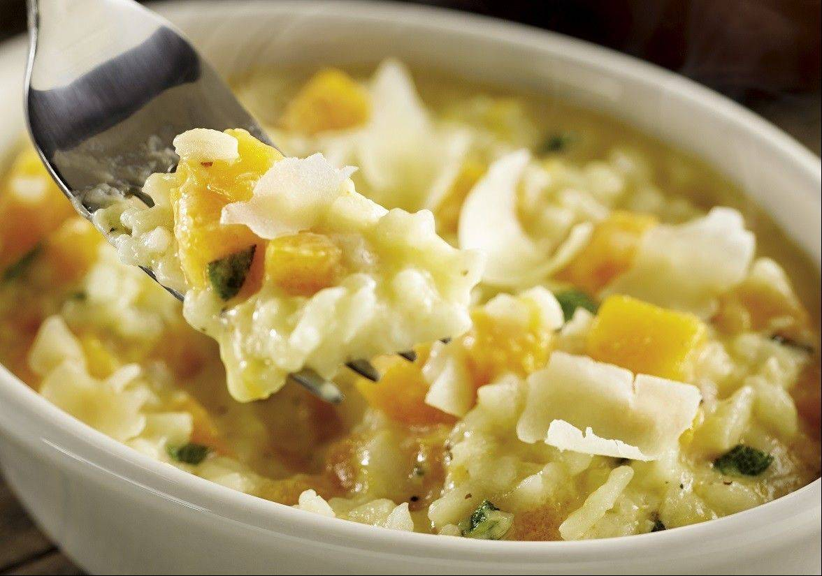 The roasted butternut squash risotto costs $3.99.
