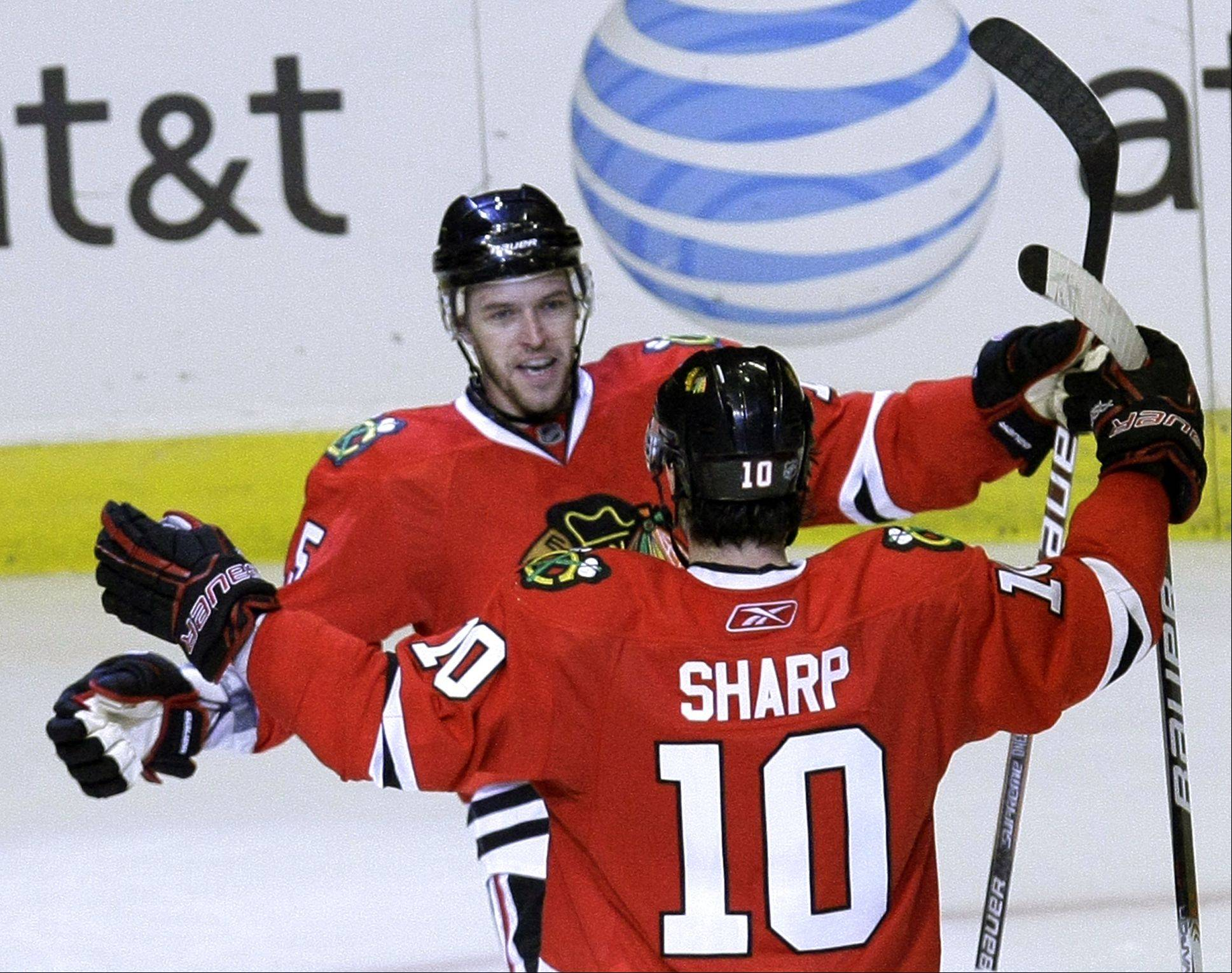 Patrick Sharp will be an Olympian in Russia next month -- one of 10 Blackhawks going to the Olympics.