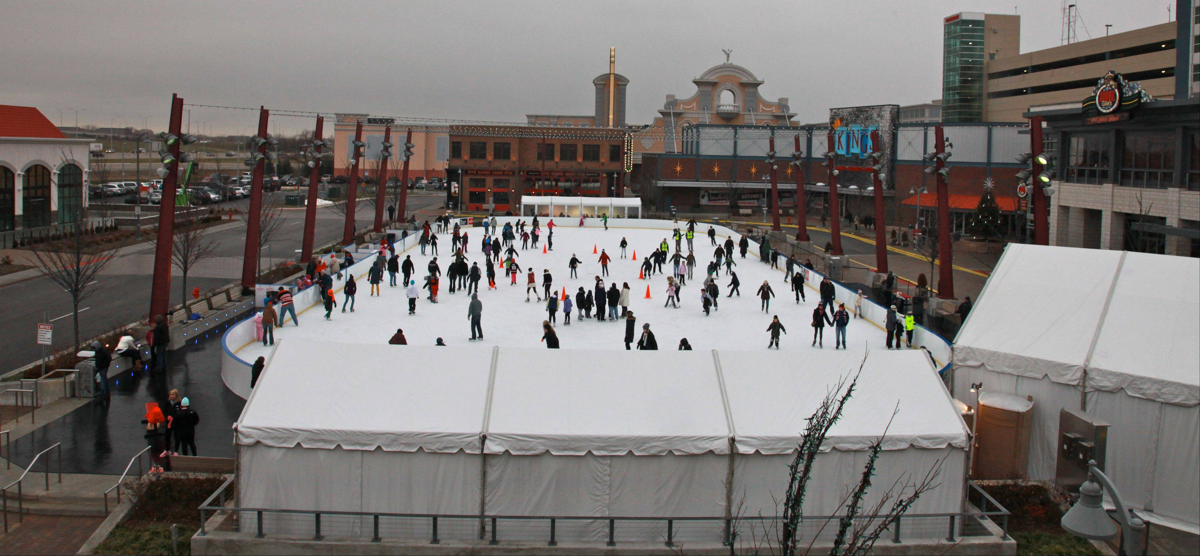 Rosemont's outdoor ice skating rink will be transformed into a hockey rink next month, and will play host to 127 games over the course of three weeks.