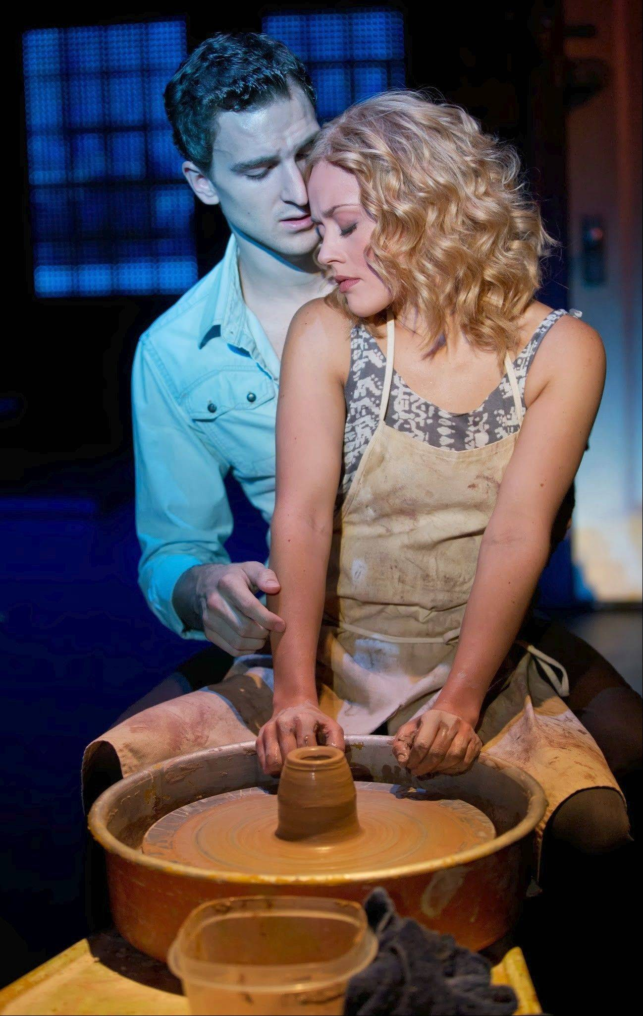 "Steven Grant Douglas and Katie Postotnik star in the national tour of the London and Broadway show ""Ghost The Musical"" playing Chicago's Oriental Theatre through Sunday, Jan. 19."