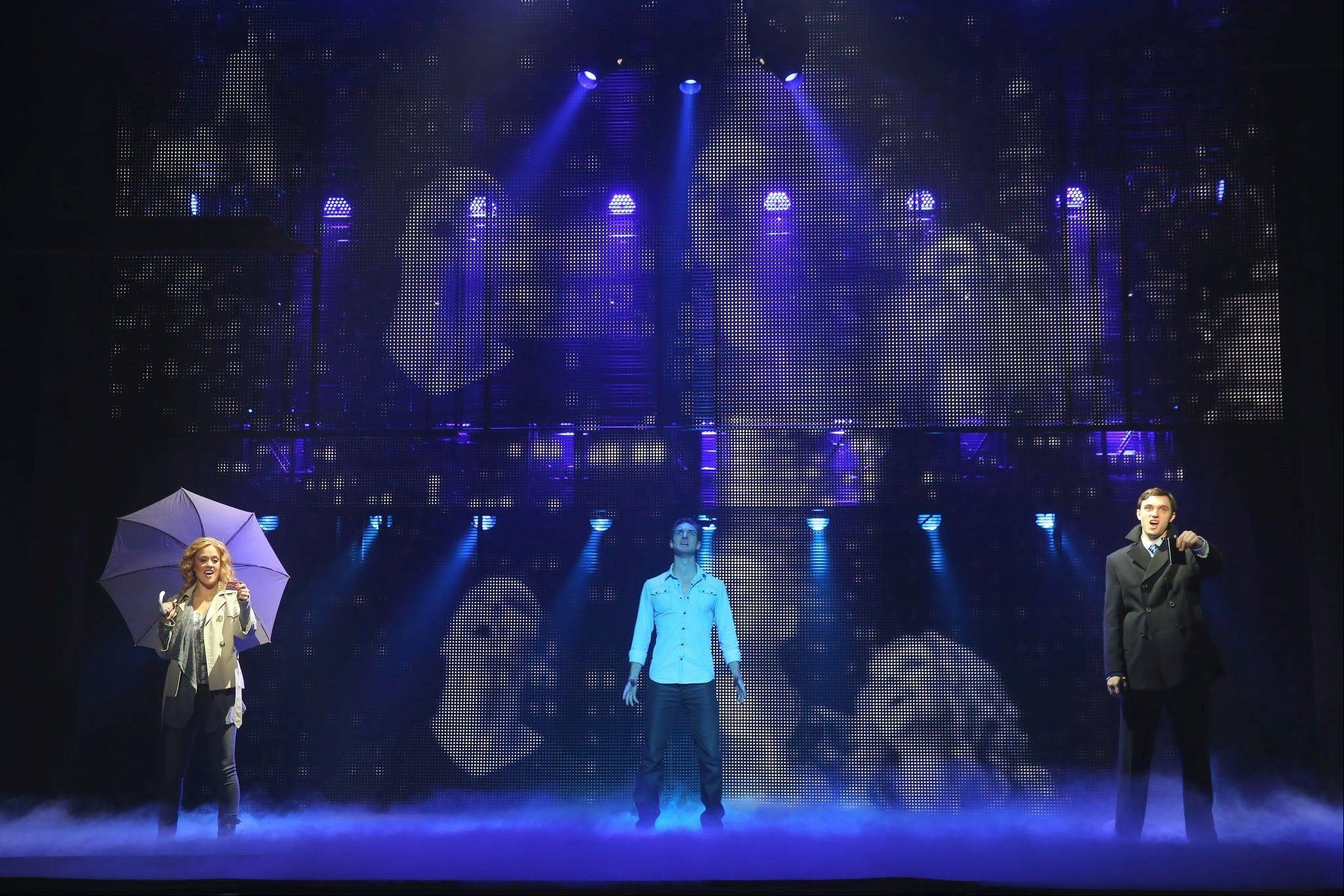 "Katie Postotnik, Steven Grant Douglas and Robby Haltiwanger star in the national tour of the London and Broadway show ""Ghost The Musical,"" adapted from the hit 1990 film."