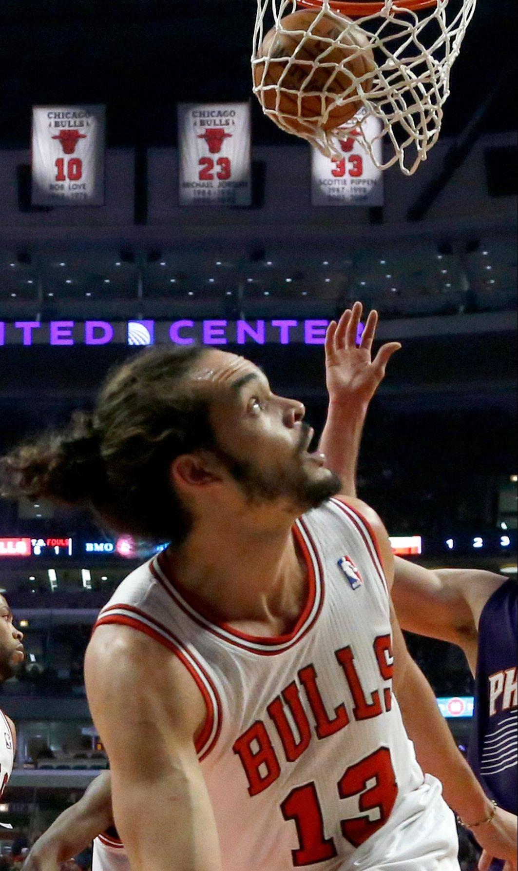 Luol Deng's gone, but there's no looking back for Joakim Noah and the rest of the Bulls, who should still make a run at the playoffs.