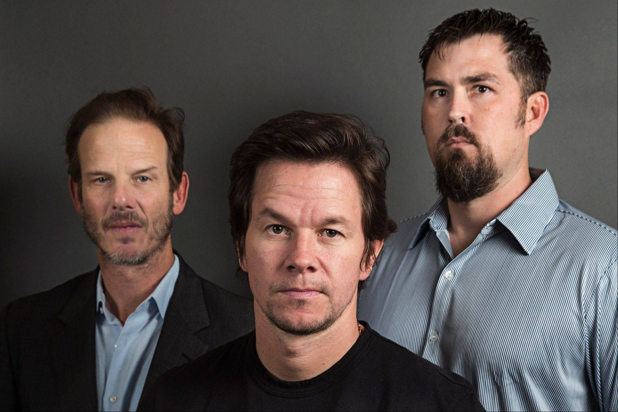 "Director Peter Berg, left, actor Mark Wahlberg and former Navy SEAL Marcus Luttrell in New York. In the age of the superhero, the movies' most reliable real-life hero has been the Navy SEAL. ""Lone Survivor"" is the latest in a string of films, including ""Zero Dark Thirty"" and ""Act of Valor"" to honor the Navy's special operations force with as much faithfulness as the filmmakers could muster."