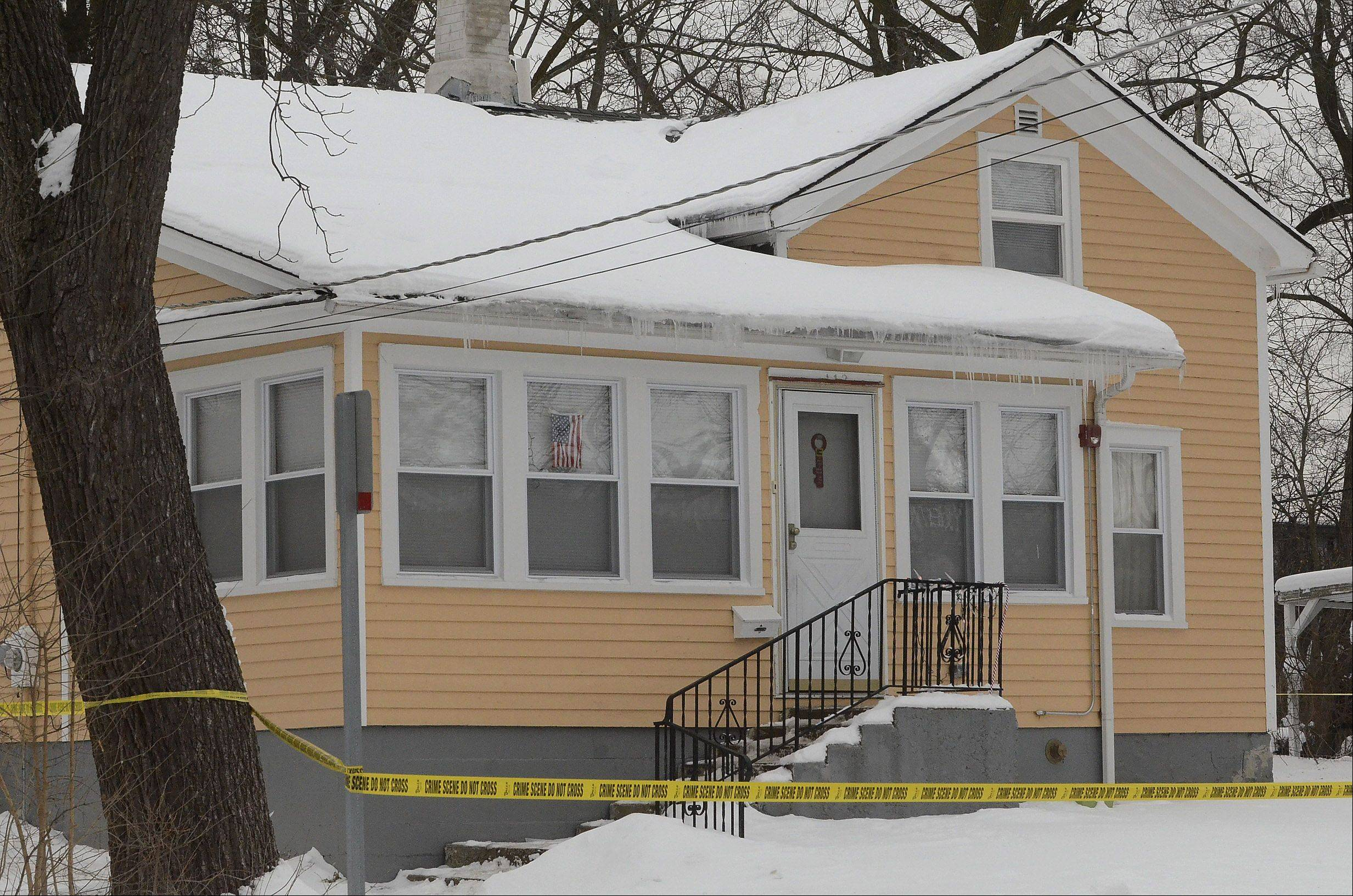 The house on the 100 block of South Hager Avenue in Barrington where the death of 7-month-old Mya Edwards was reported Wednesday afternoon.