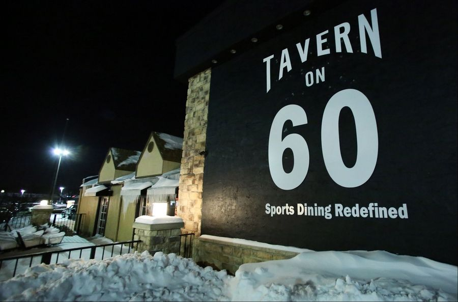 Tavern on 60 recently opened in the spot last occupied by Blue 60.
