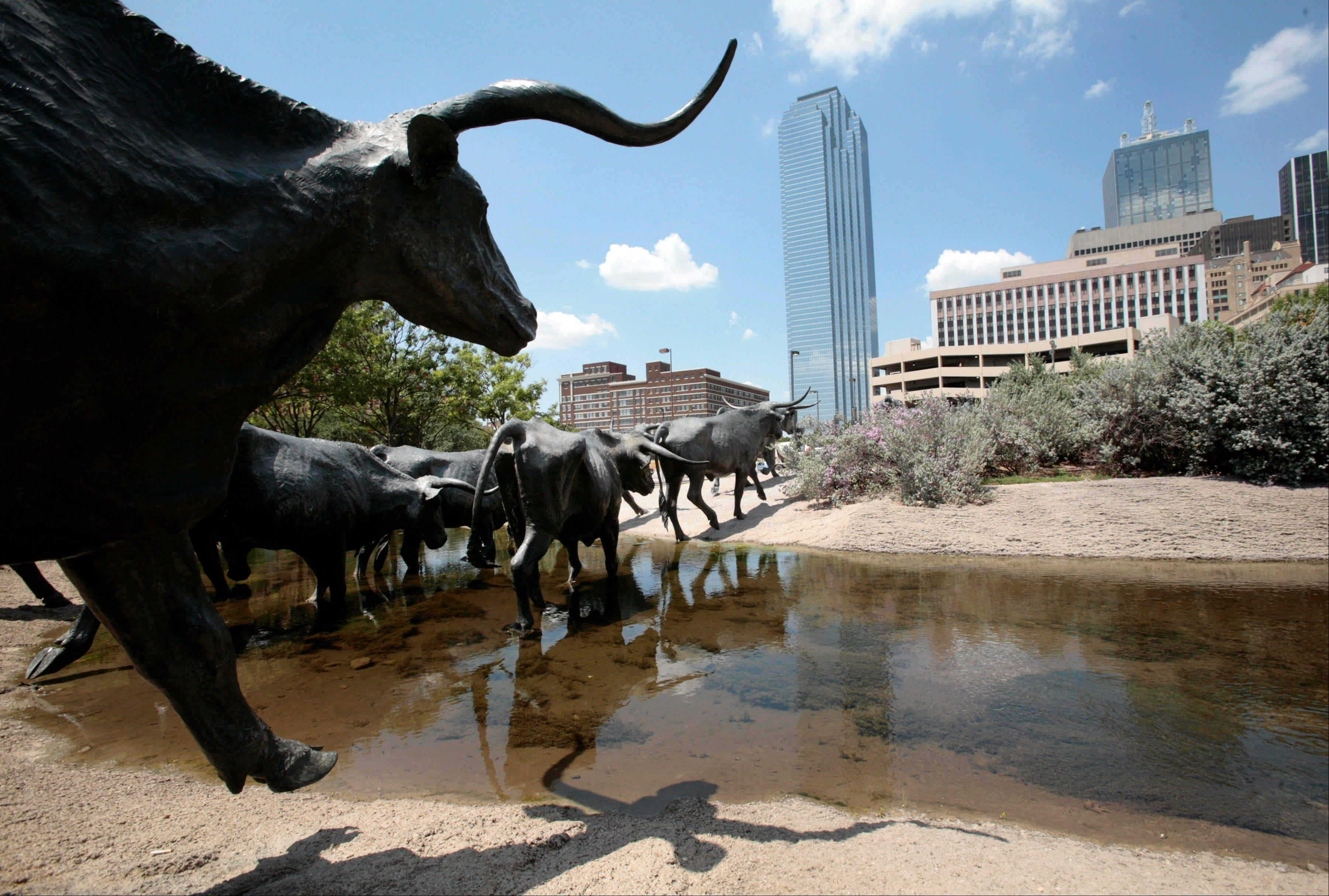 Dallas is a city that likes to do things big, like this outdoor longhorn steer sculpture in downtown, but that doesn't mean you'll have to sell the ranch to have a good time here.