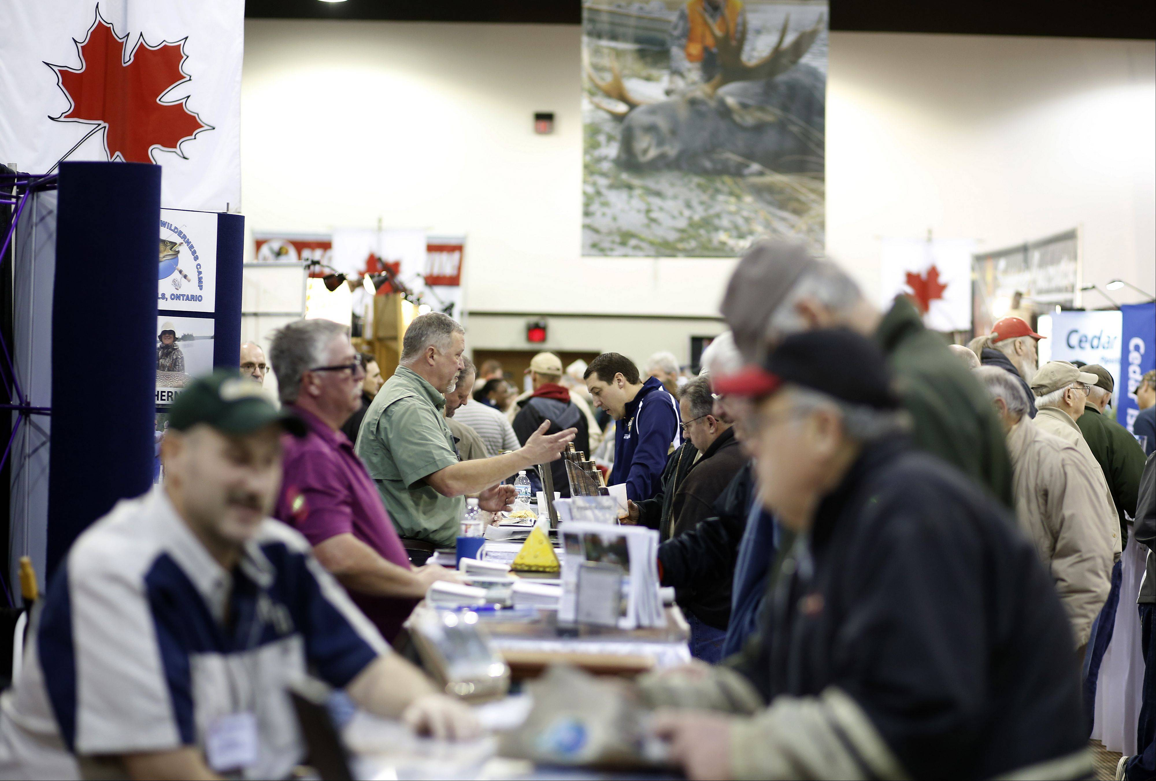Several thousand people will visit the 132 booths at the annual All-Canada Show at Pheasant Run in St. Charles, which runs through Sunday.
