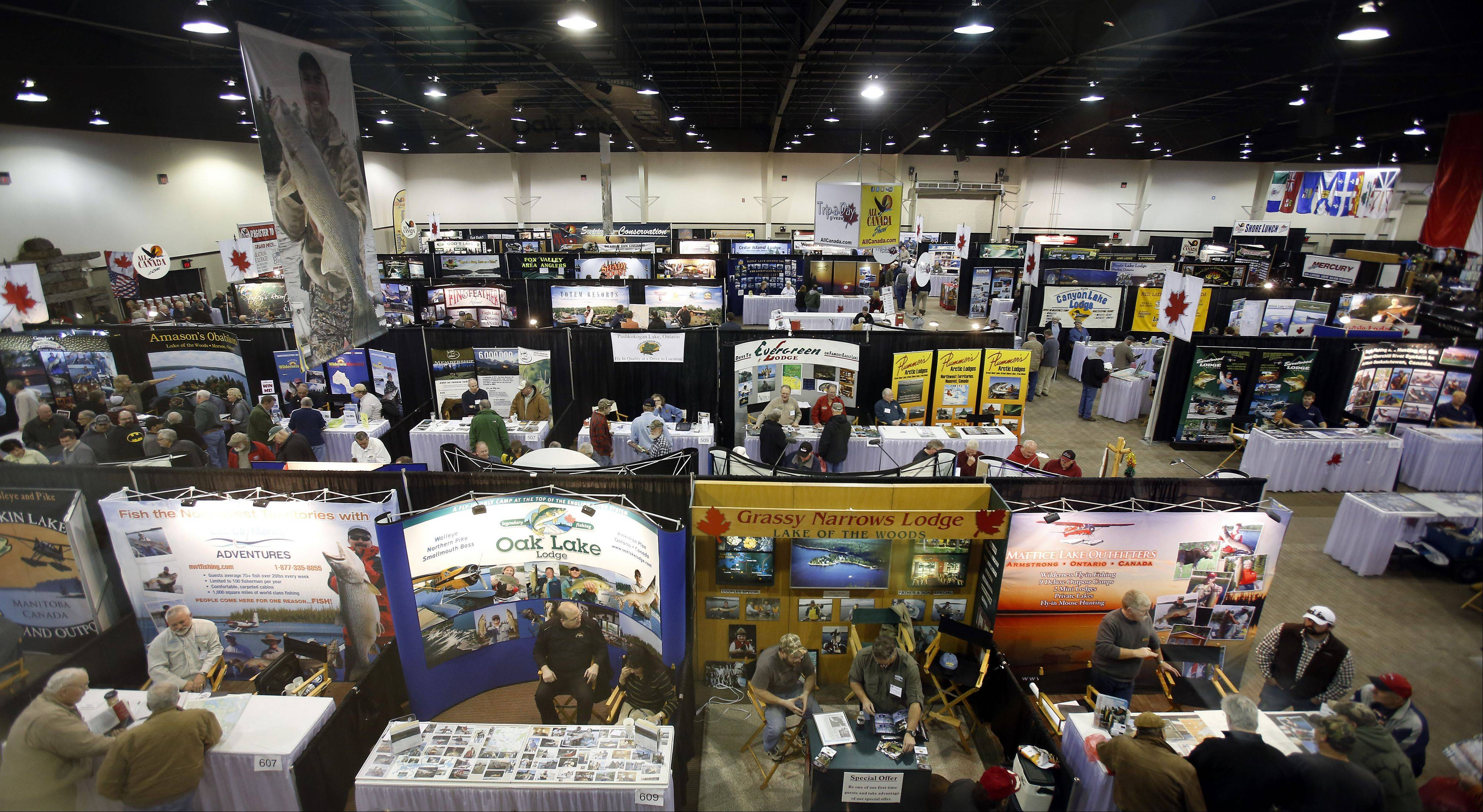 This is the view of the convention floor Saturday at the annual All-Canada Show at Pheasant Run in St. Charles.