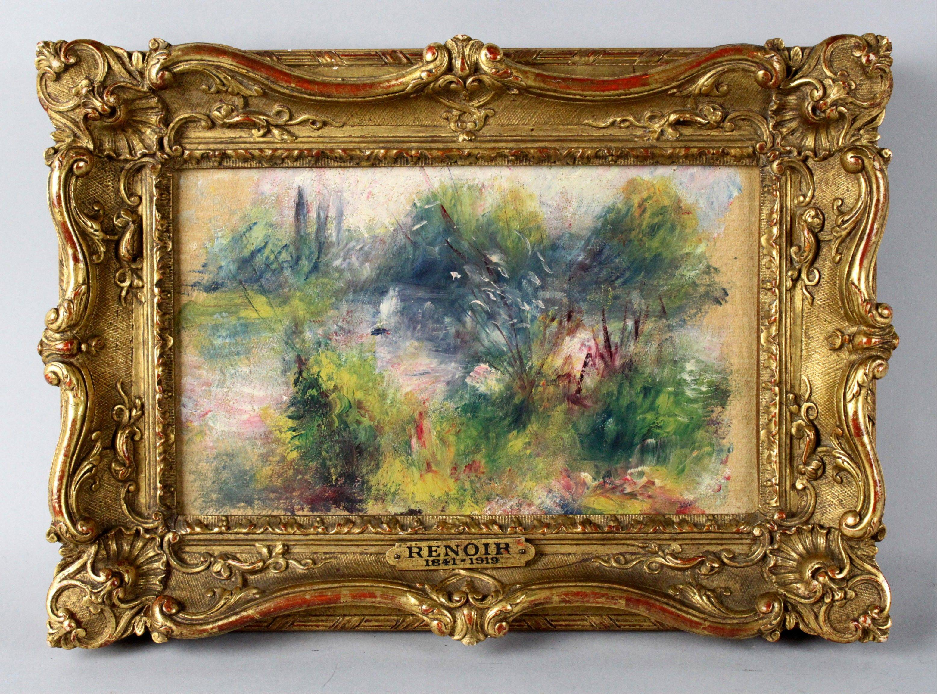 Original painting by French impressionist Pierre-Auguste Renoir.