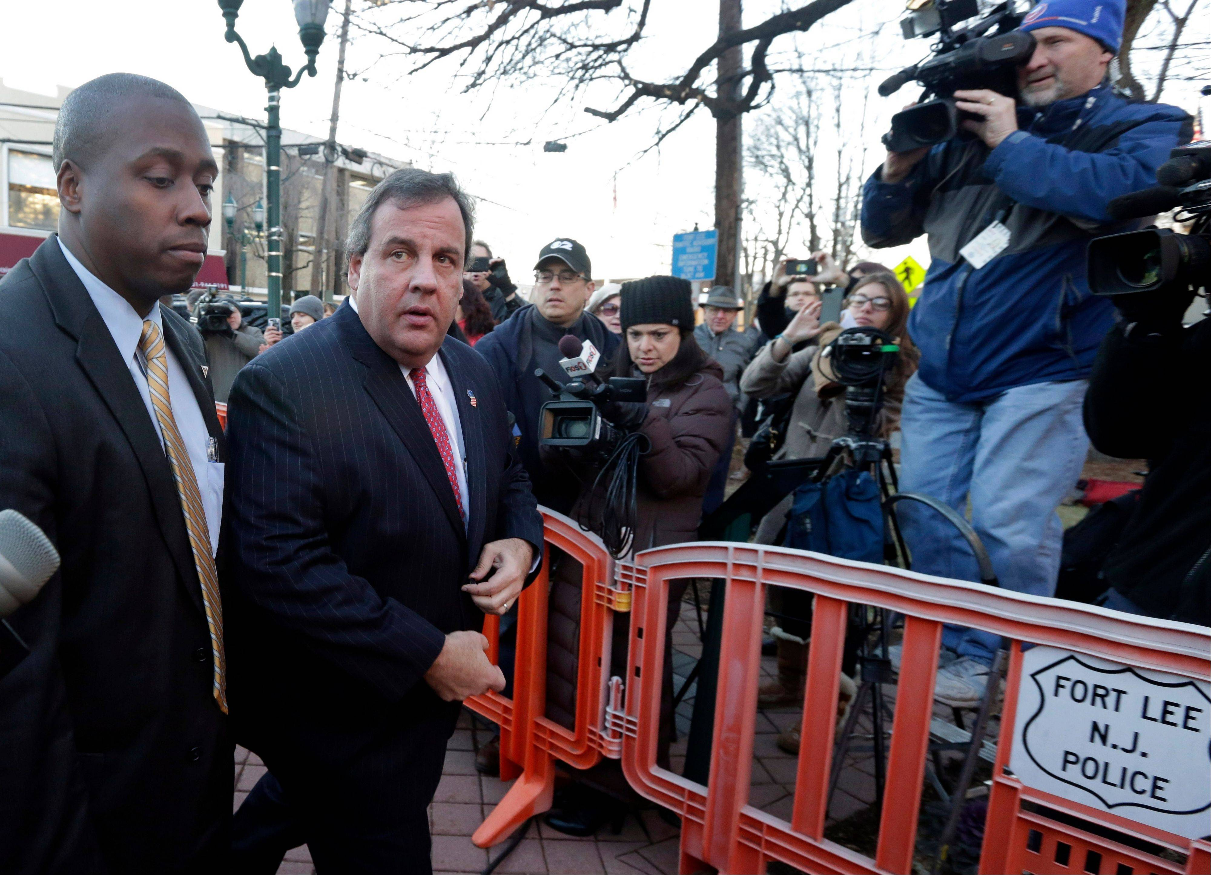 New Jersey Gov. Chris Christie traveled to Fort Lee to apologize in person to Mayor Mark Sokolich. A wounded Christie is working to move beyond the most challenging test of his political career, a traffic scandal that rocked his administration this week and threatens to tarnish his national image ahead of the next presidential contest.