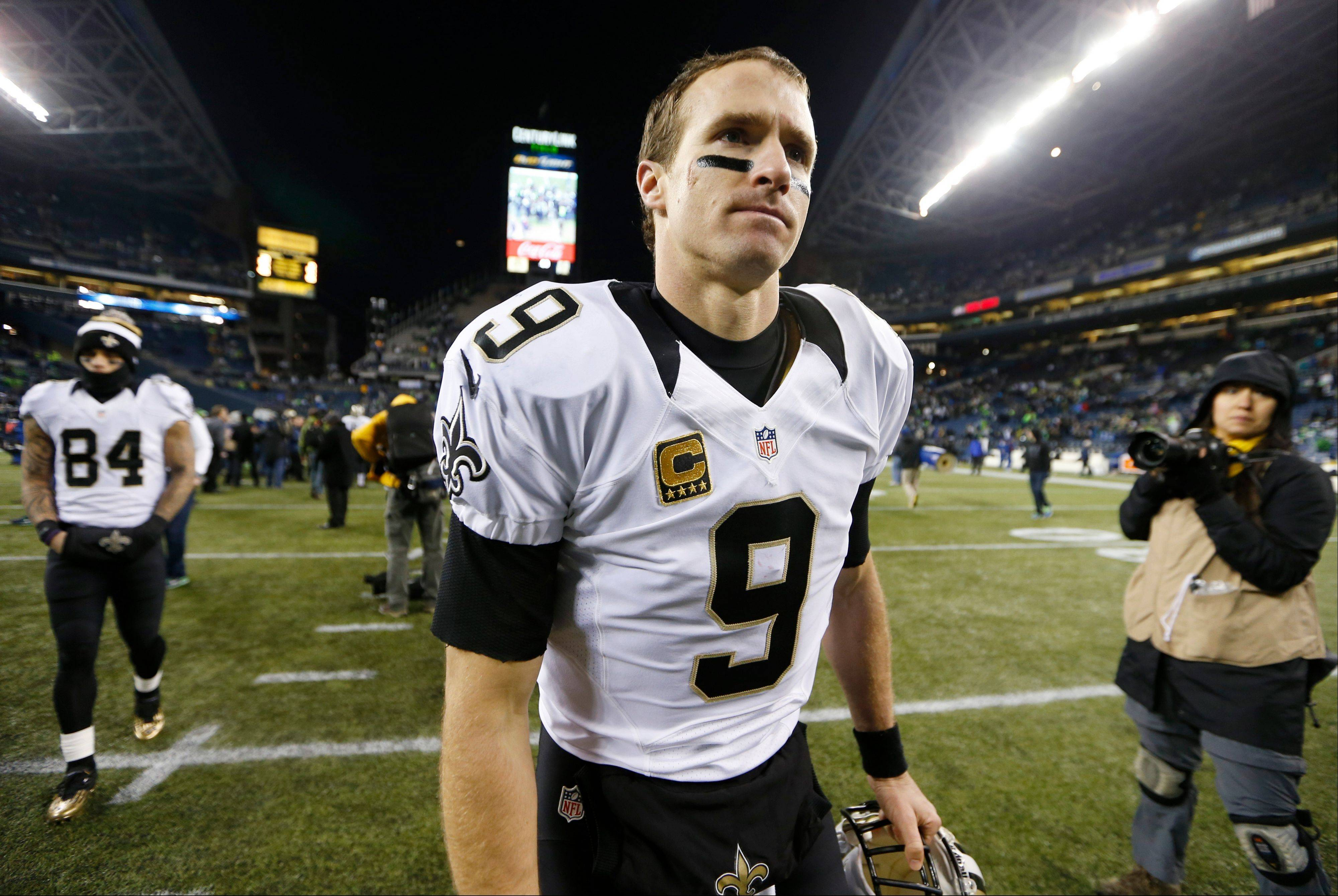 Quarterback Drew Brees and the rest of the New Orleans Saints want to show they're better than the team that was blown out by Seattle in December.