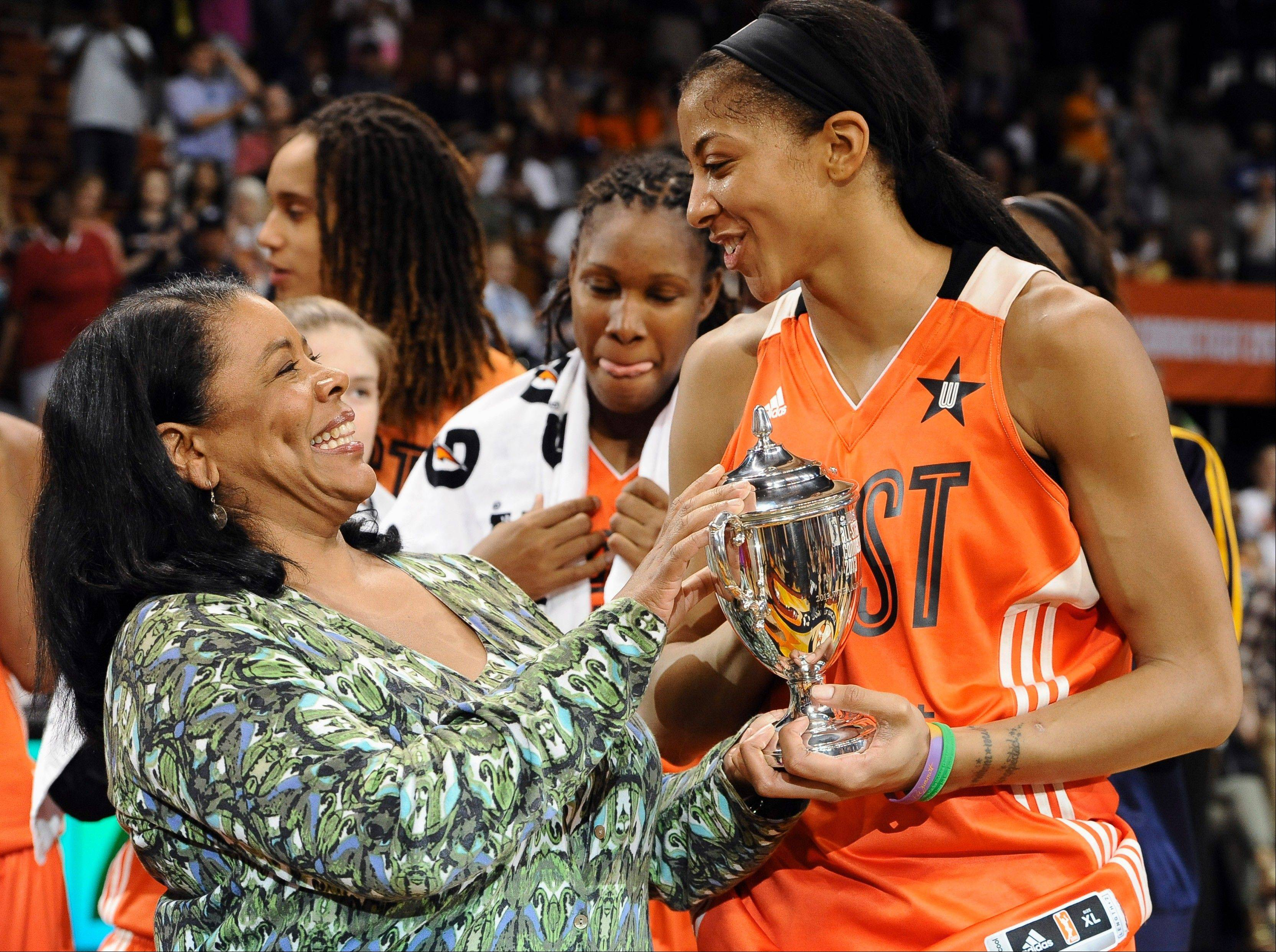 Candace Parker, the Sparks superstar who picked up MVP trophies for the WNBA regular season and the 2013 all-star game, no doubt is eager to hear if WNBA President Laurel Richie can secure a buyer for the Los Angeles franchise.