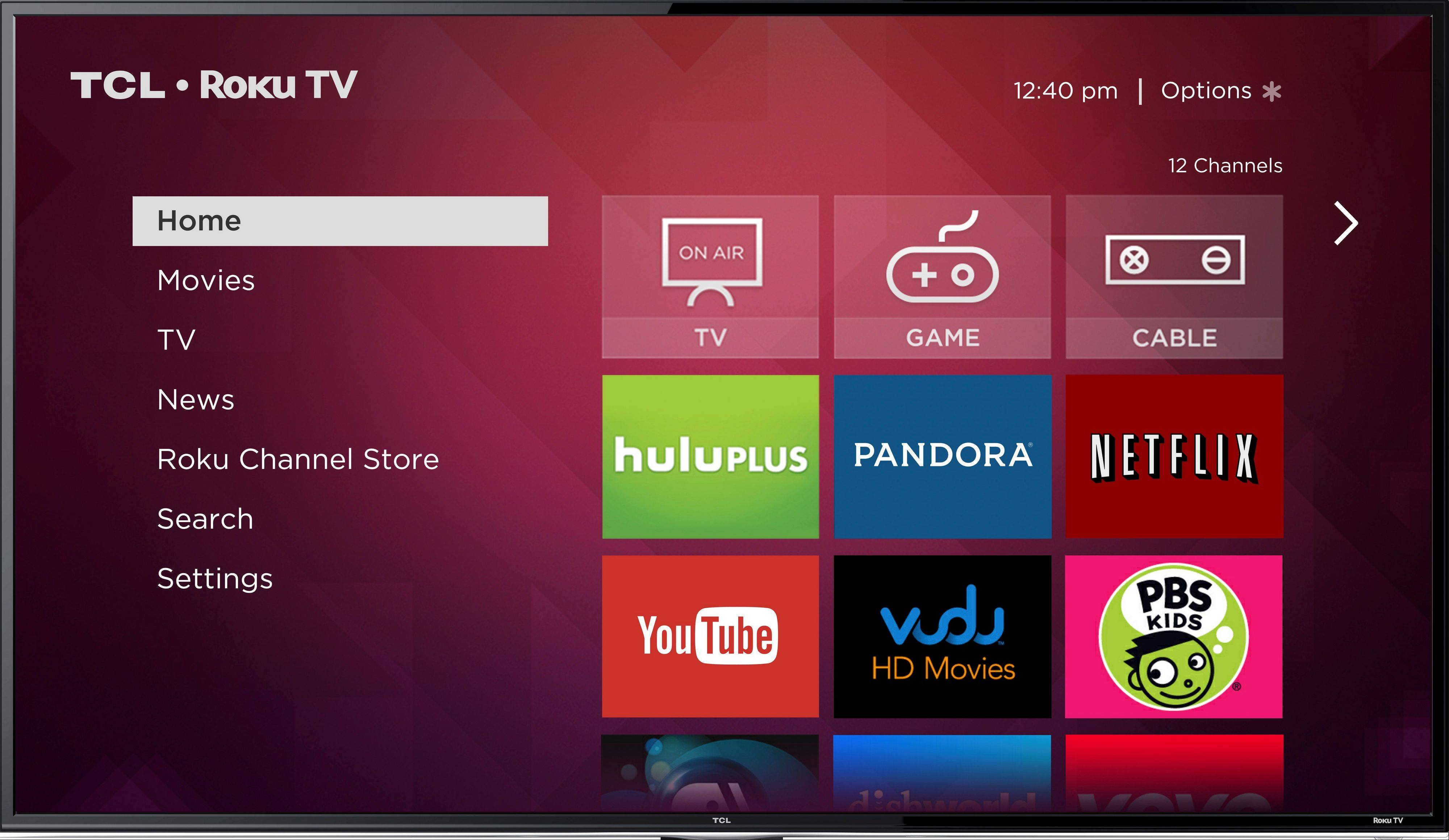 This image provided by Roku Inc., shows a screen frame grab of Roku�s service. Internet streaming platform company Roku Inc. is launching a line of TVs that plays back video from services like Netflix without requiring an extra set-top box. While similar to smart TVs on the market already, Roku�s platform with some 1,200 apps is far more comprehensive for those seeking out niche content. Roku plans to showcase them on the sidelines of the annual gadget show in Las Vegas, International CES.