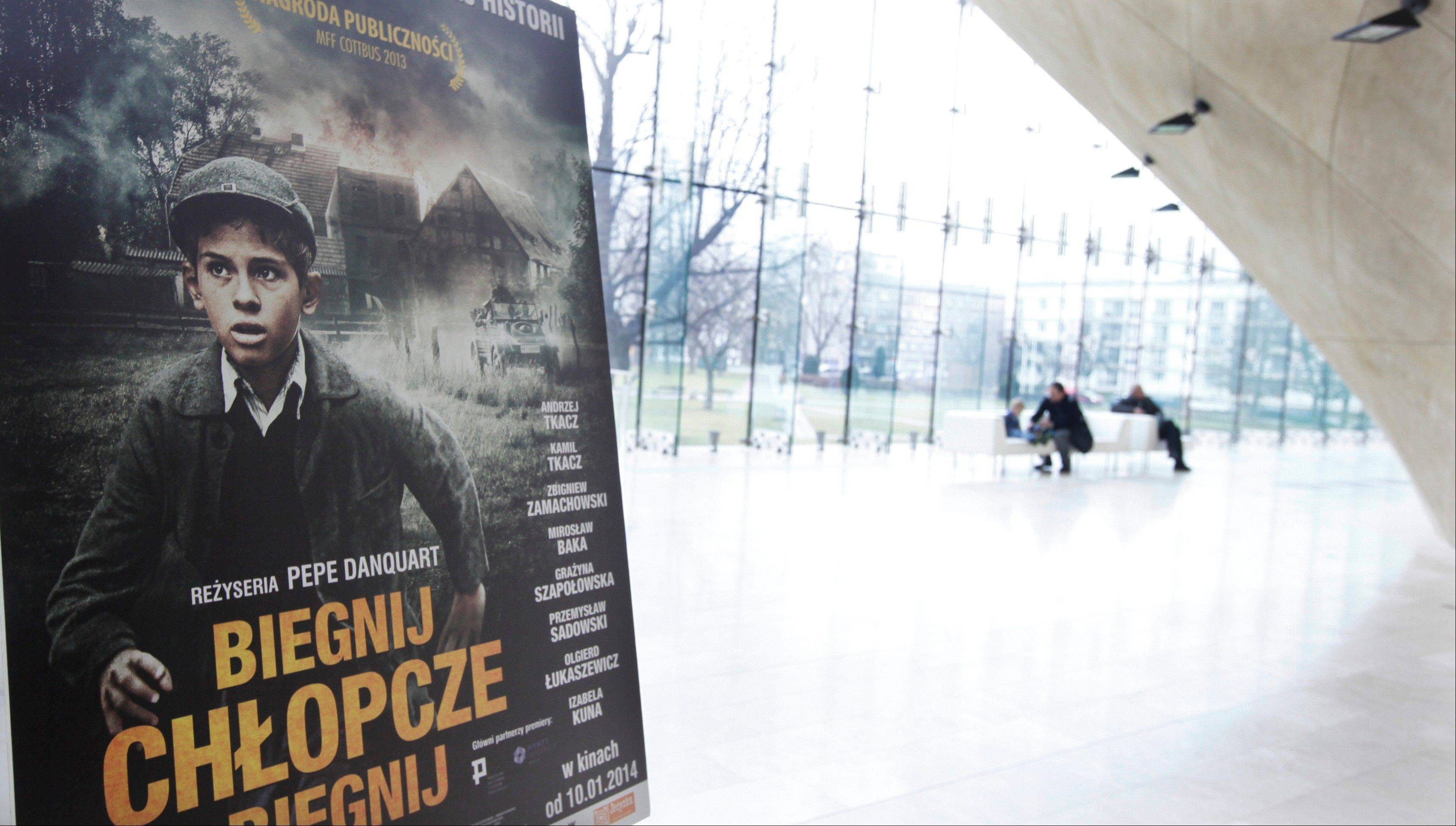 Posters advertising �Run, Boy, Run� are displayed at the Museum of the History of Polish Jews prior to the world premiere of the movie by German Oscar-winning director Pepe Danquart about a Jewish boy struggling to survive the Holocaust, in Warsaw, Poland. The movie is based on a true story of 10-year-old Yoram Friedman who escaped the Warsaw ghetto in 1943 and hid in the woods near the city.