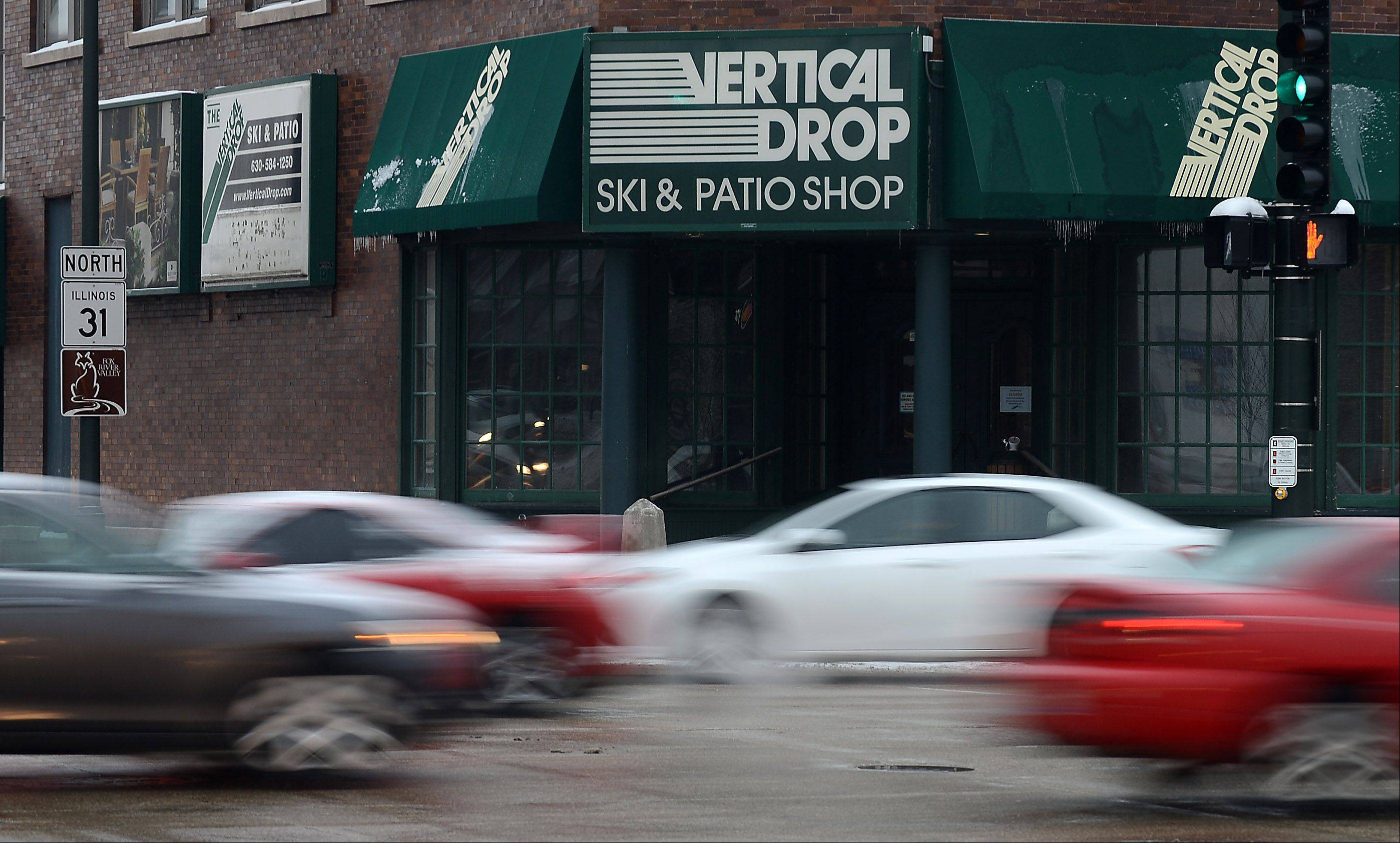 The Vertical Drop in downtown St. Charles sits empty after many years in business.