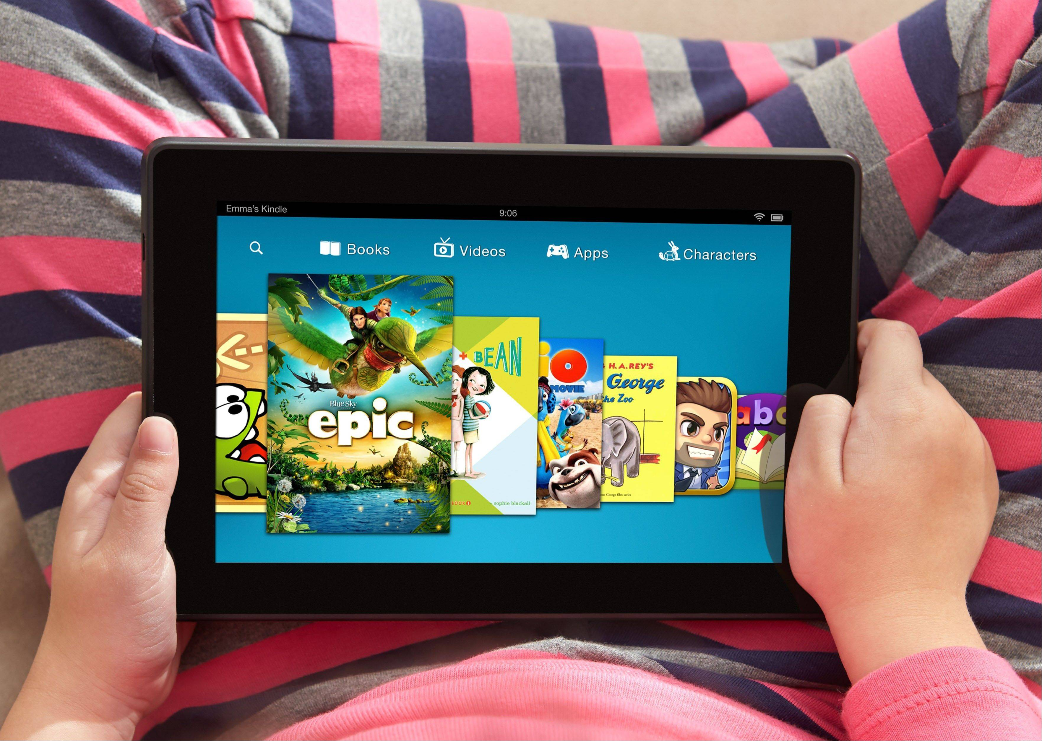 Amazon.com Inc.'s Kindle FreeTime gives parents an easy way to block grown-up content. With FreeTime, kids get thousands of kid-friendly books, games and videos for a monthly fee.