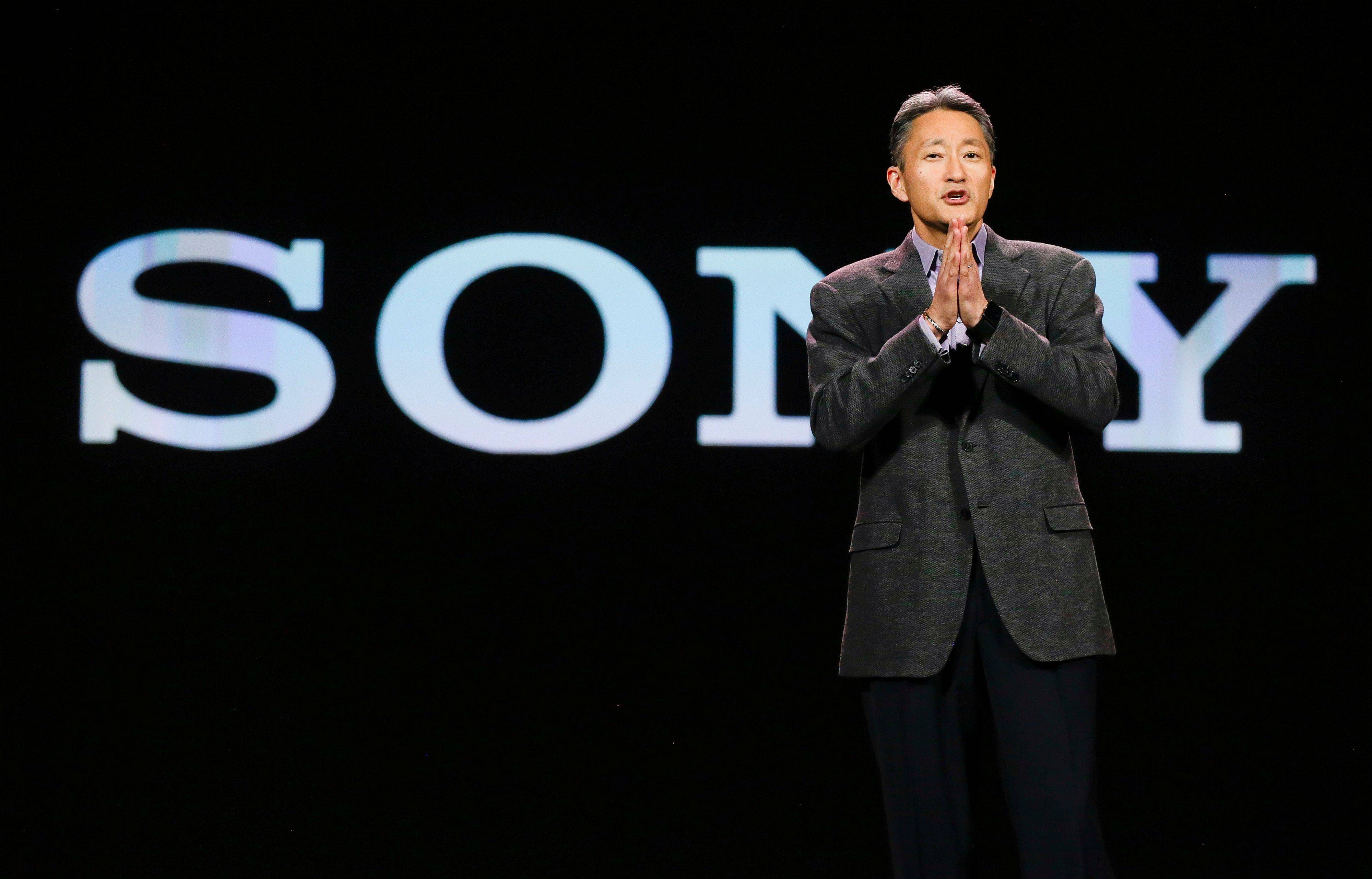 Sony Corporation president and CEO Kazuo Hirai speaks during a keynote address at the International Consumer Electronics Show, in Las Vegas.