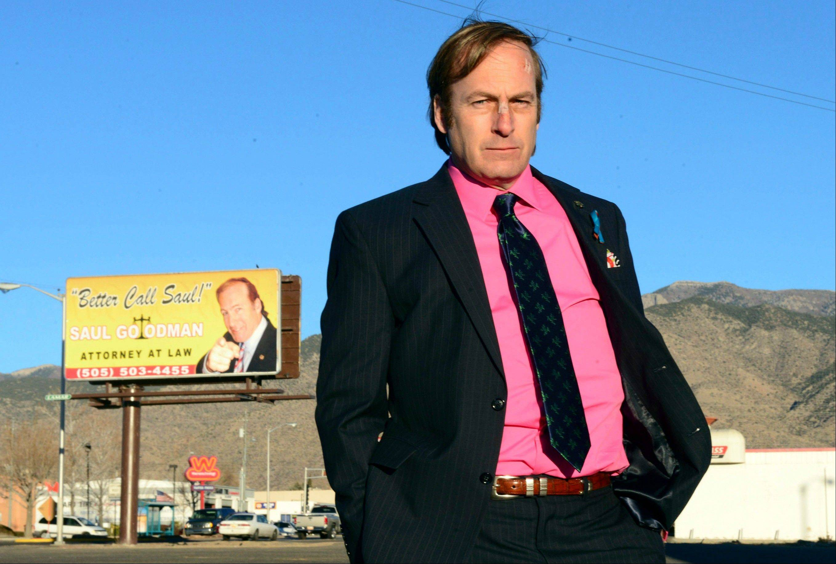 "This image released by AMC shows Naperville native Bob Odenkirk in a scene from the final season of ""Breaking Bad."" AMC has said ""Better Call Saul,"" the one-hour ""Breaking Bad"" prequel, will premiere in November 2014."