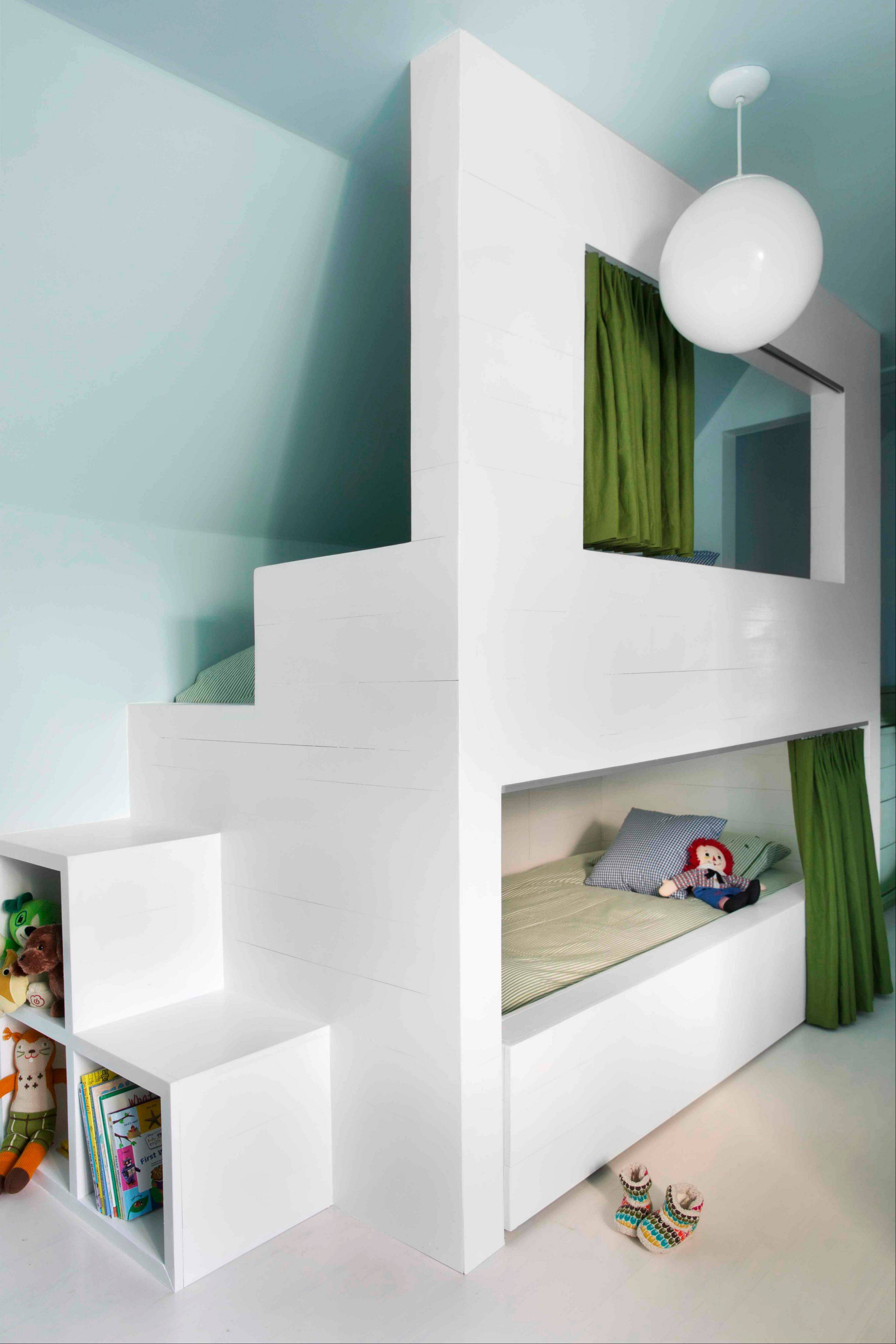 Flynn says bunk rooms are becoming more and more popular with homeowners who have awkward bonus rooms that are otherwise hard to furnish. Flynn suggests investing in custom built-in bunks to maximize a home's sleeping space.