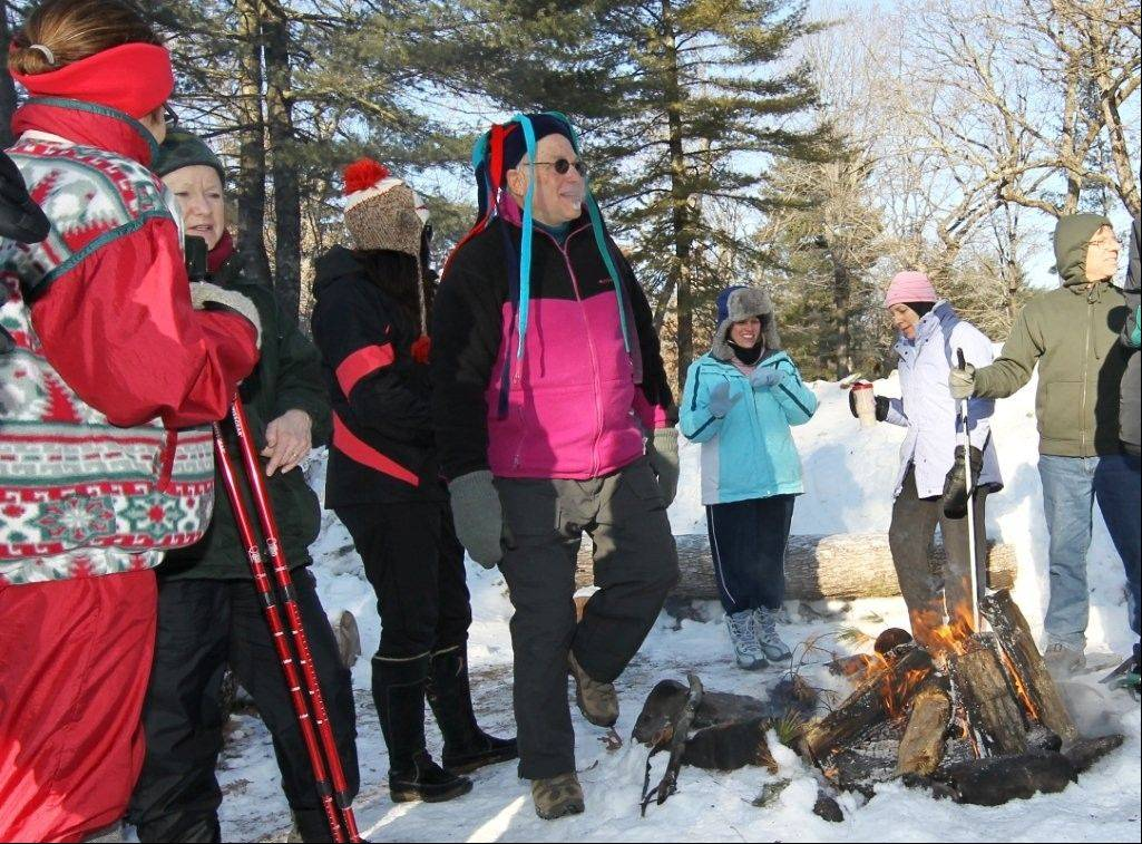 The 4th annual Snoga event features one day of snowshoeing, hiking, yoga and drumming at Camp Lakotah Lodge in Wautoma, Wis.