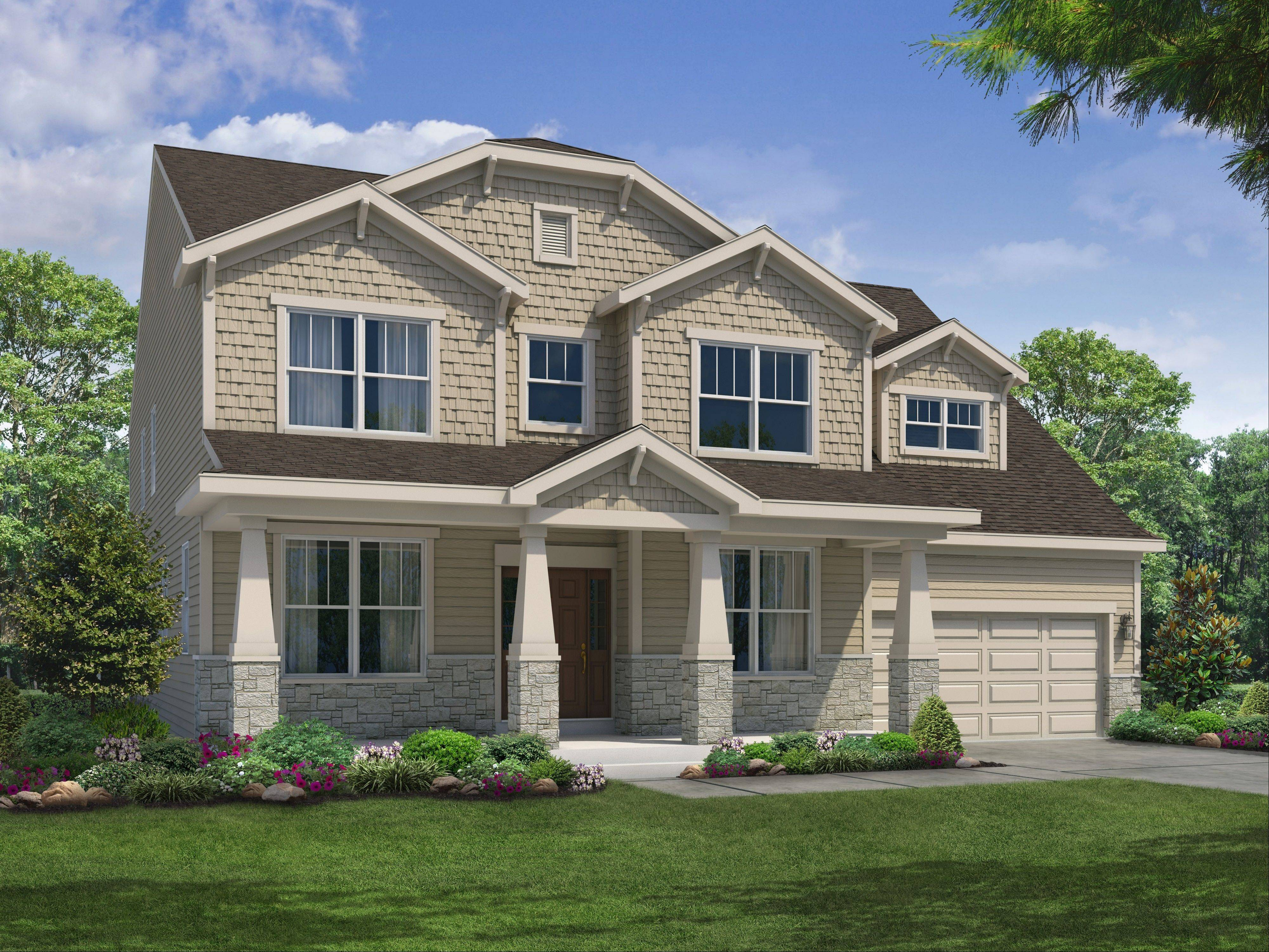 William Ryan Homes� new Historic Americana line of 13 houses are based on classic designs, like this Craftsman floor plan.