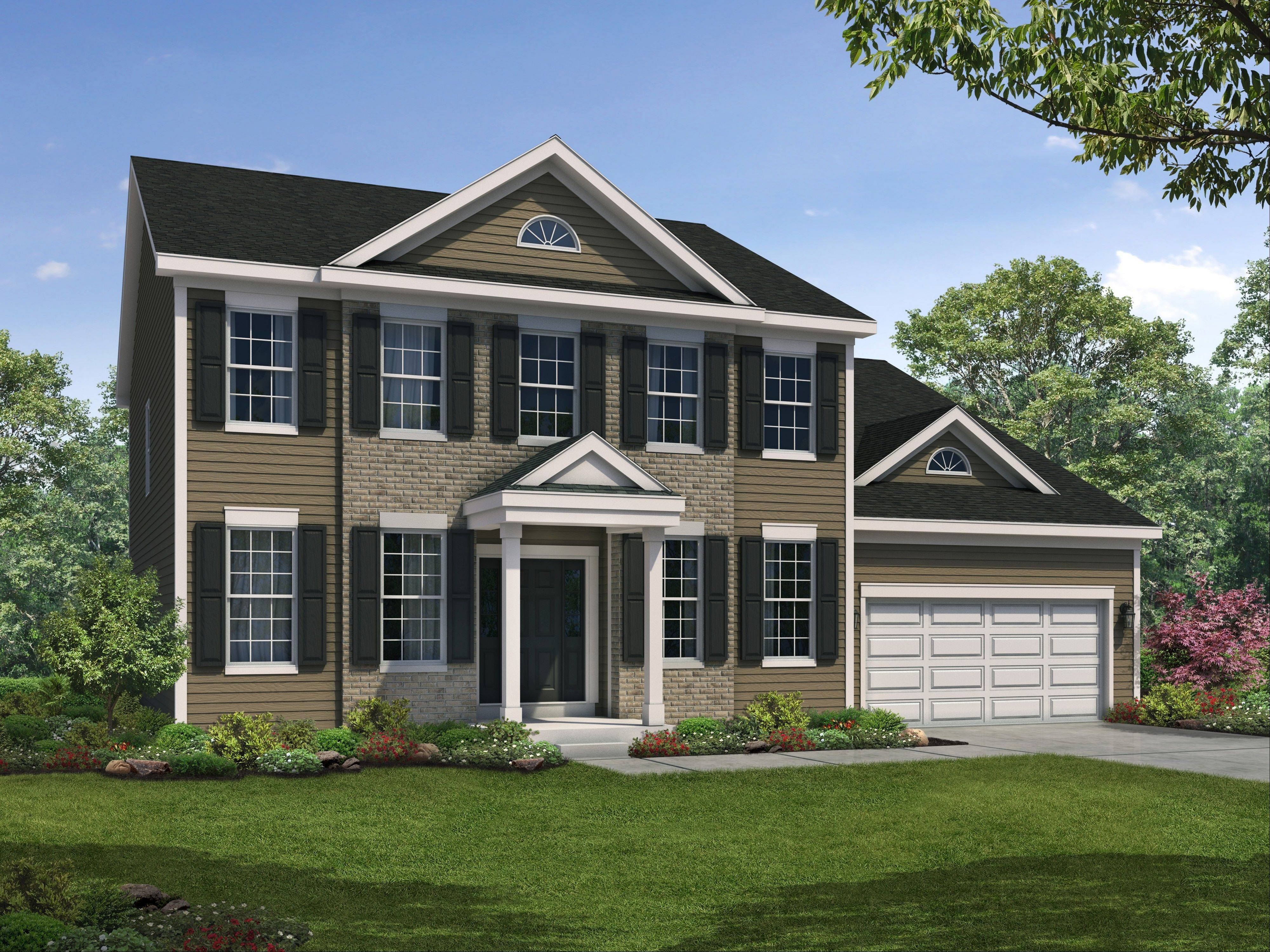 William Ryan Homes� new Historic Americana line, including this Georgian model, are based on classic American houses.