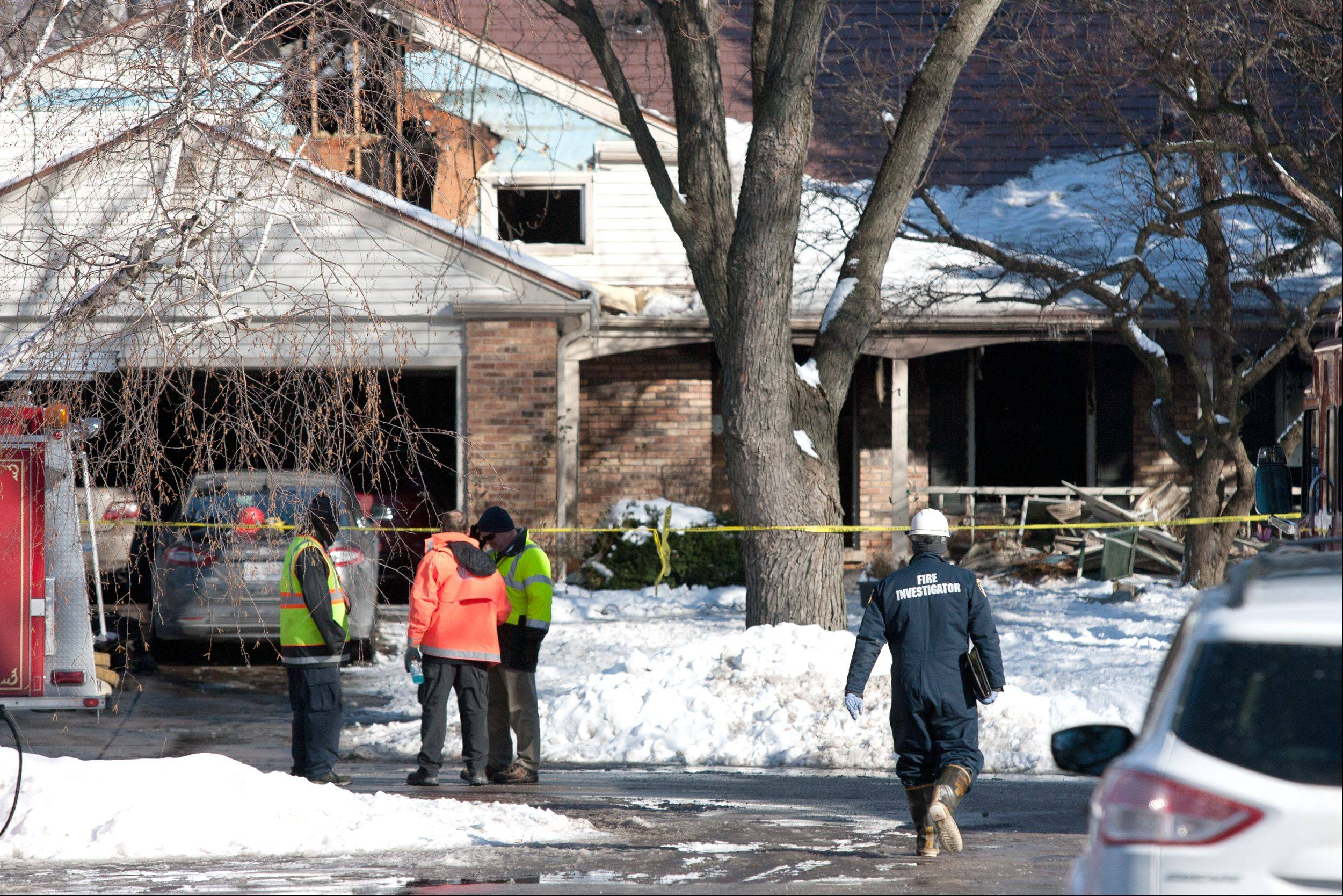 An investigation continues into a Dec. 18 house fire on the 1200 block of Field Court in Naperville, where a 57-year-old man who had brain cancer and his 56-year-old wife who was blind perished.