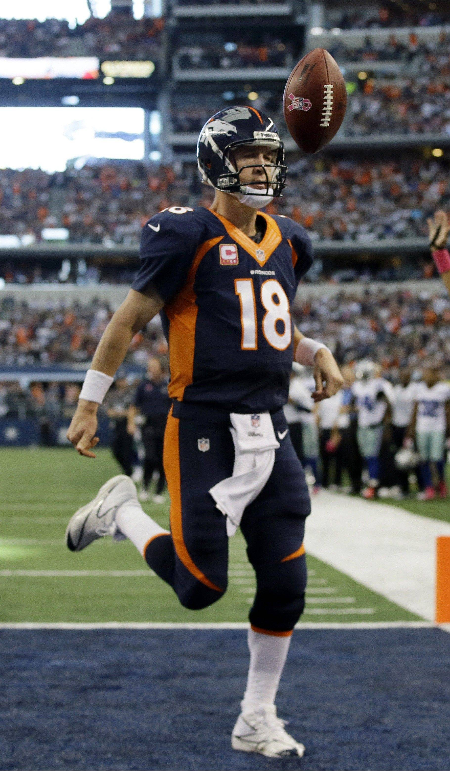 Broncos quarterback Peyton Manning owns a 9-11 playoff record compared to 167-73 during the regular season. He has won one Super Bowl, against the Bears in 2007.