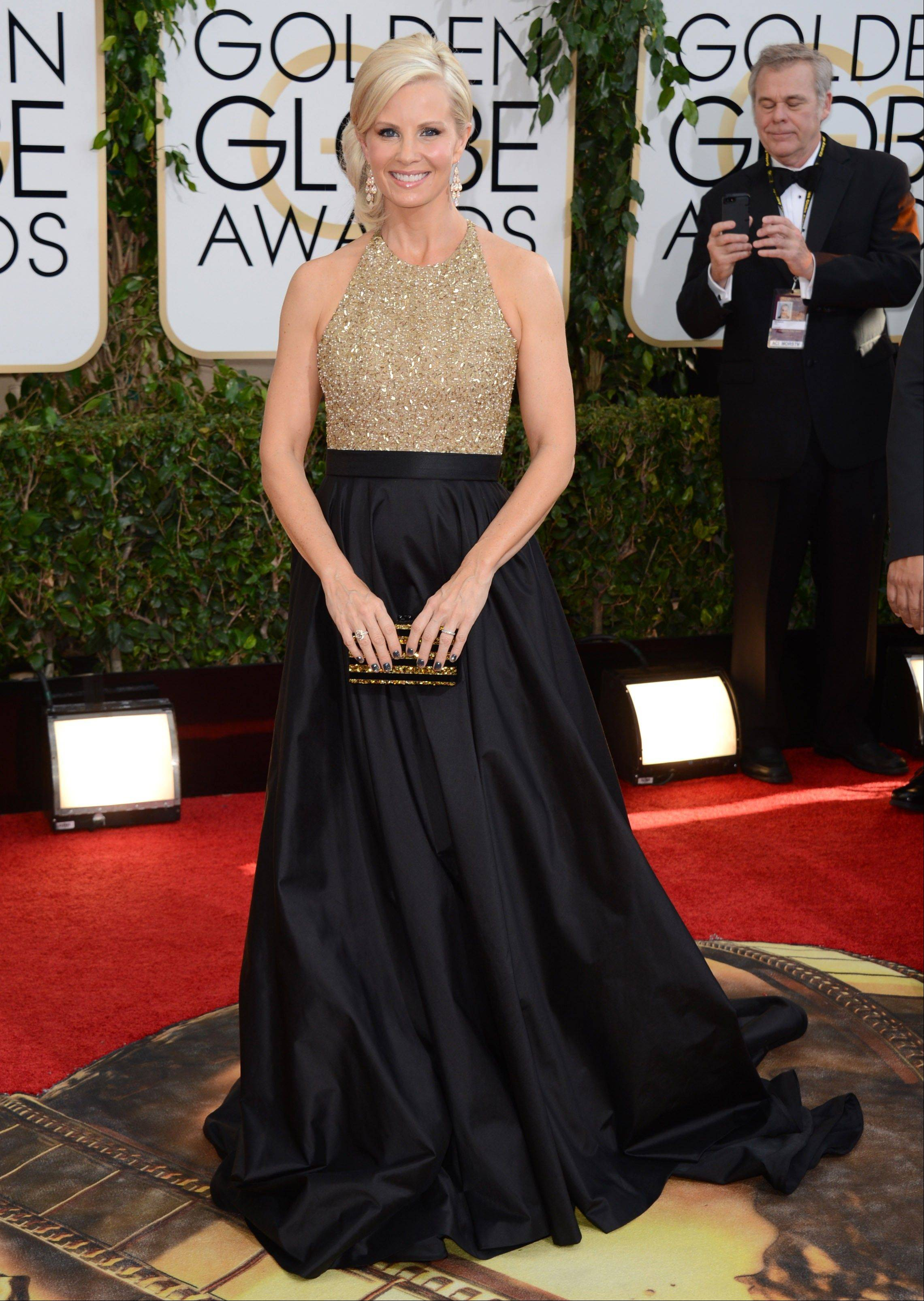 """Parenthood"" star Monica Potter arrives at the 71st annual Golden Globe Awards."