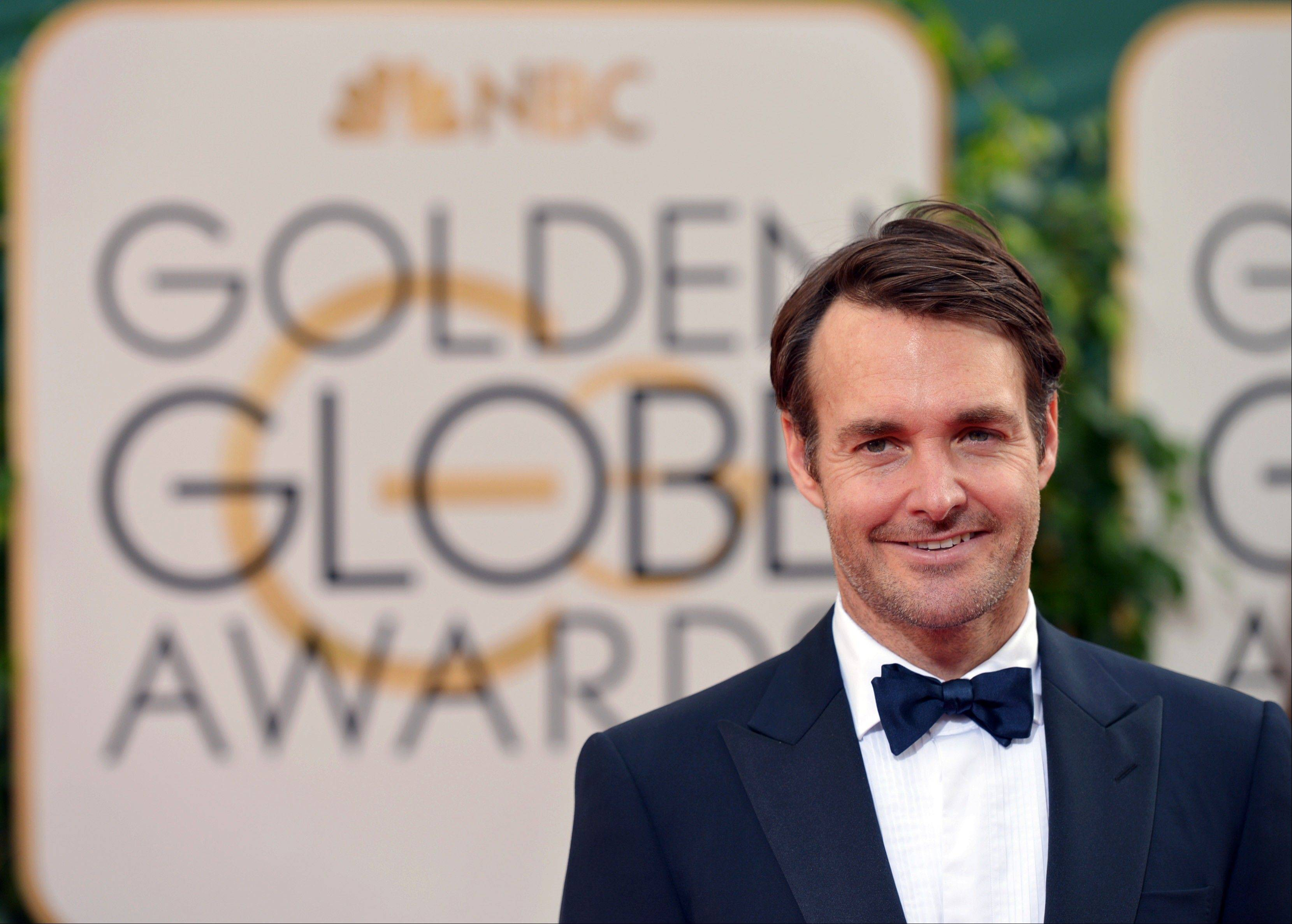 """Nebraska"" star Will Forte arrives at the 71st annual Golden Globe Awards."