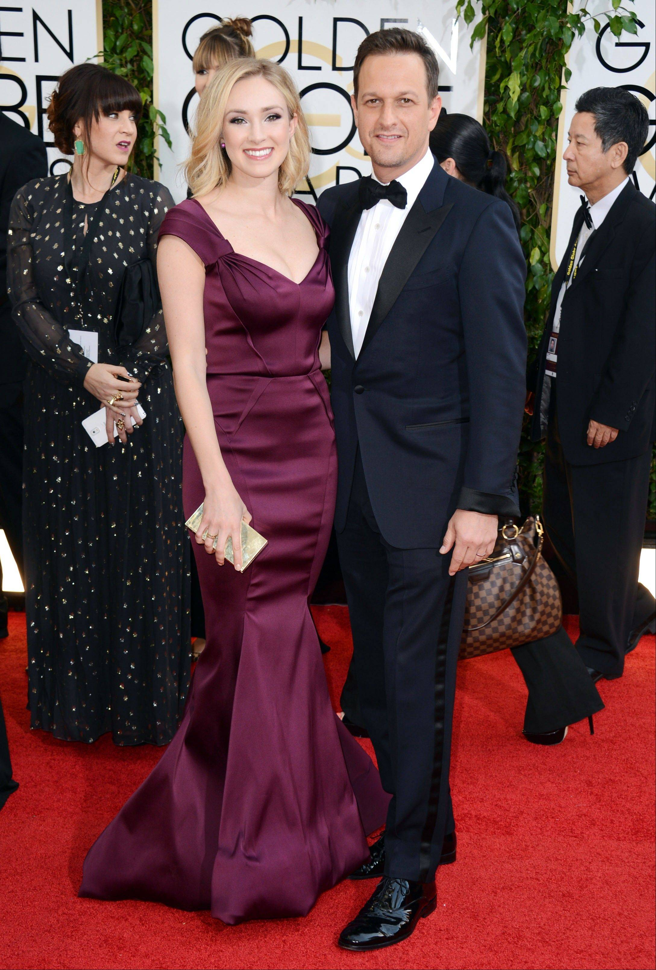 """The Good Wife"" star Josh Charles walks the red carpet with his wife Sophie Flack."
