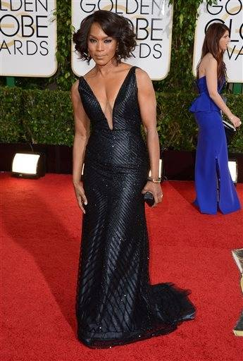 Angela Bassett rocked the most popular color on the red carpet.
