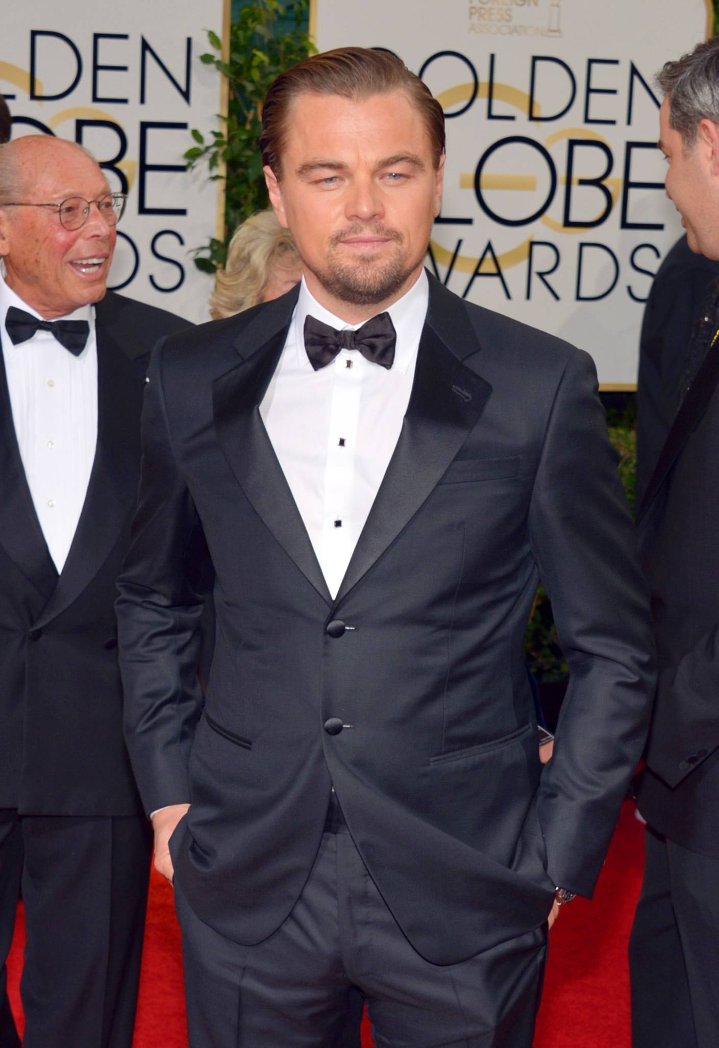 """The Wolf of Wall Street"" star looks relaxed and dapper on the red carpet."