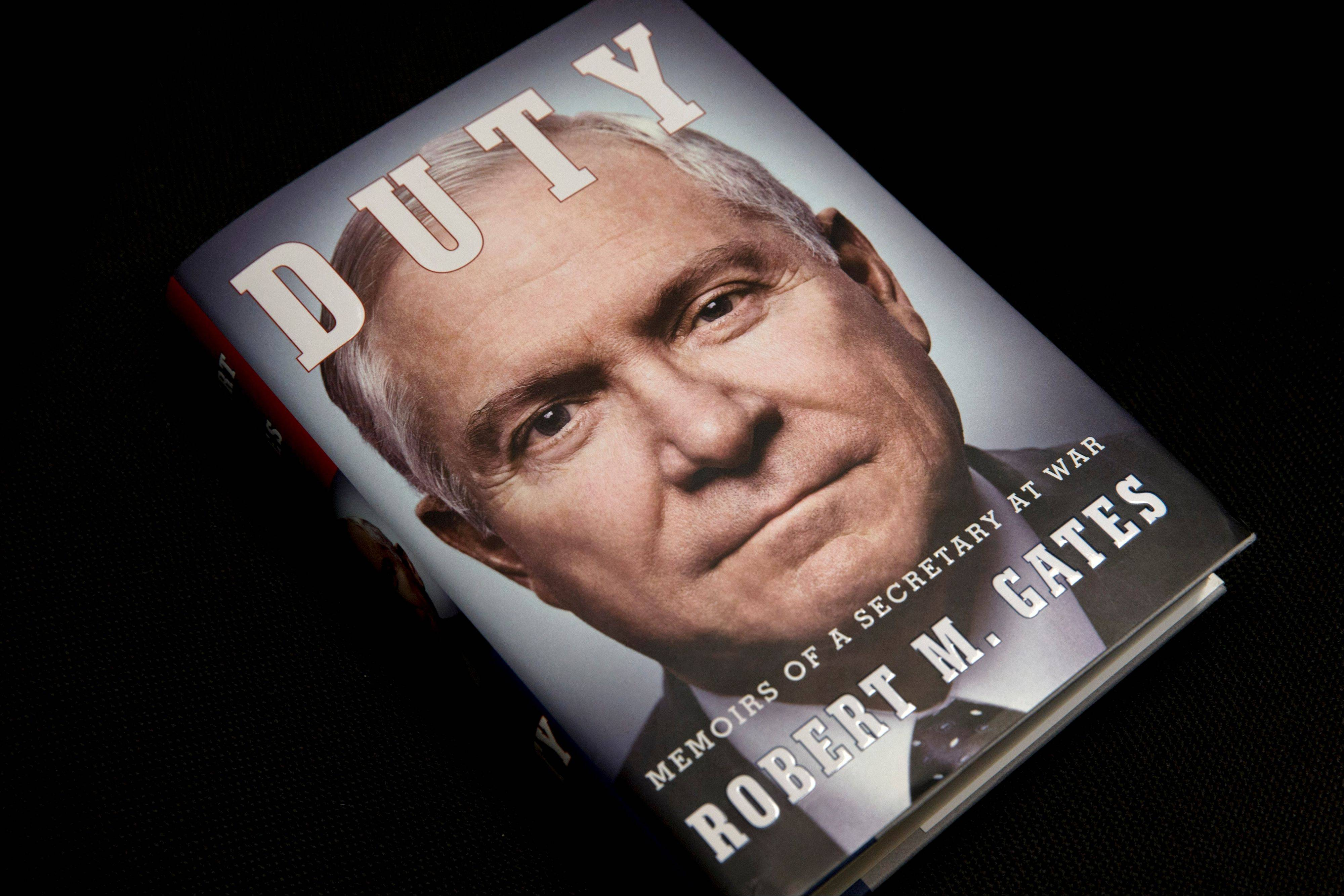 "Former Defense Secretary Robert Gates siad he doesn't regret anything he said in his new book entitled: ""Duty: Memoirs of a Secretary of War."""