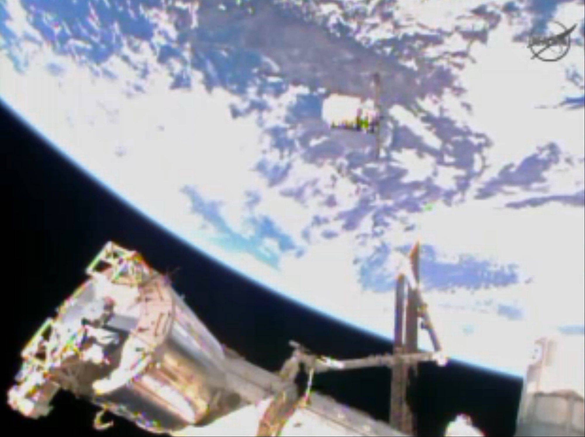 The Cygnus resupply spacecraft approaches the International Space Station early Sunday.